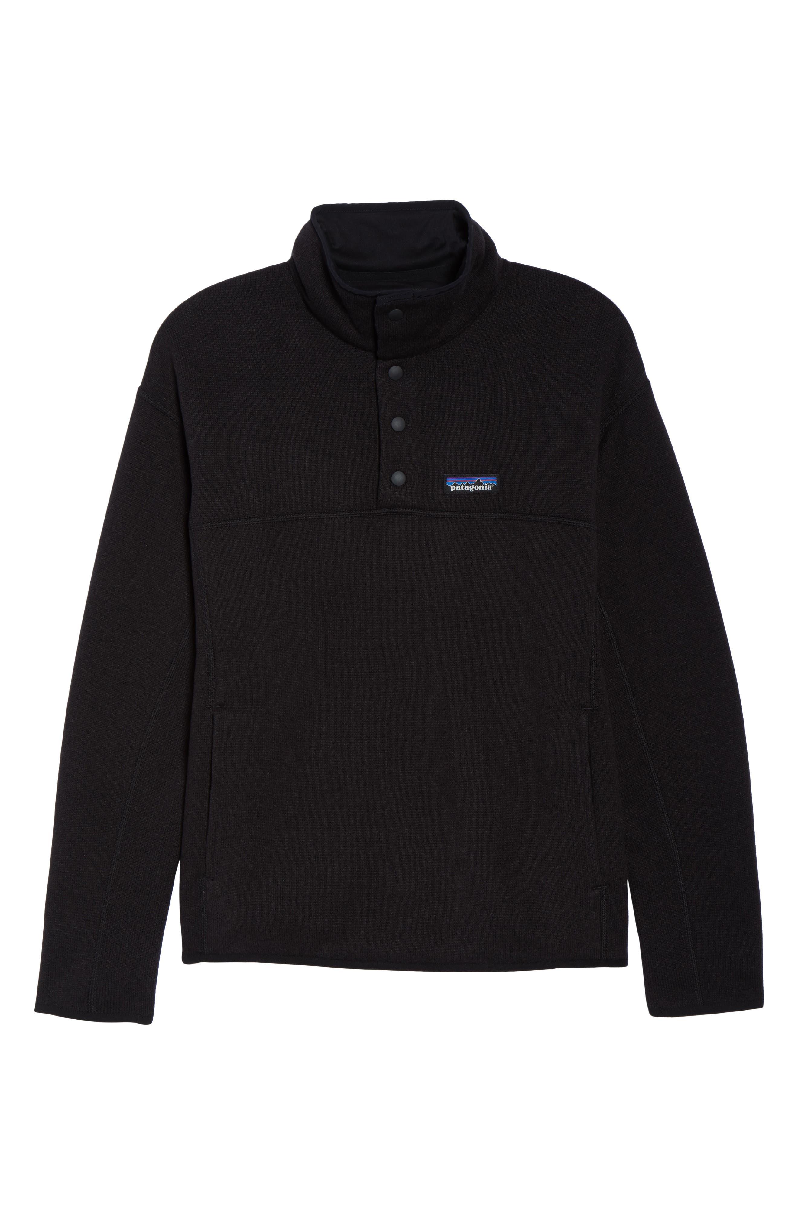 Lightweight Better Sweater Fleece,                             Alternate thumbnail 7, color,                             BLACK