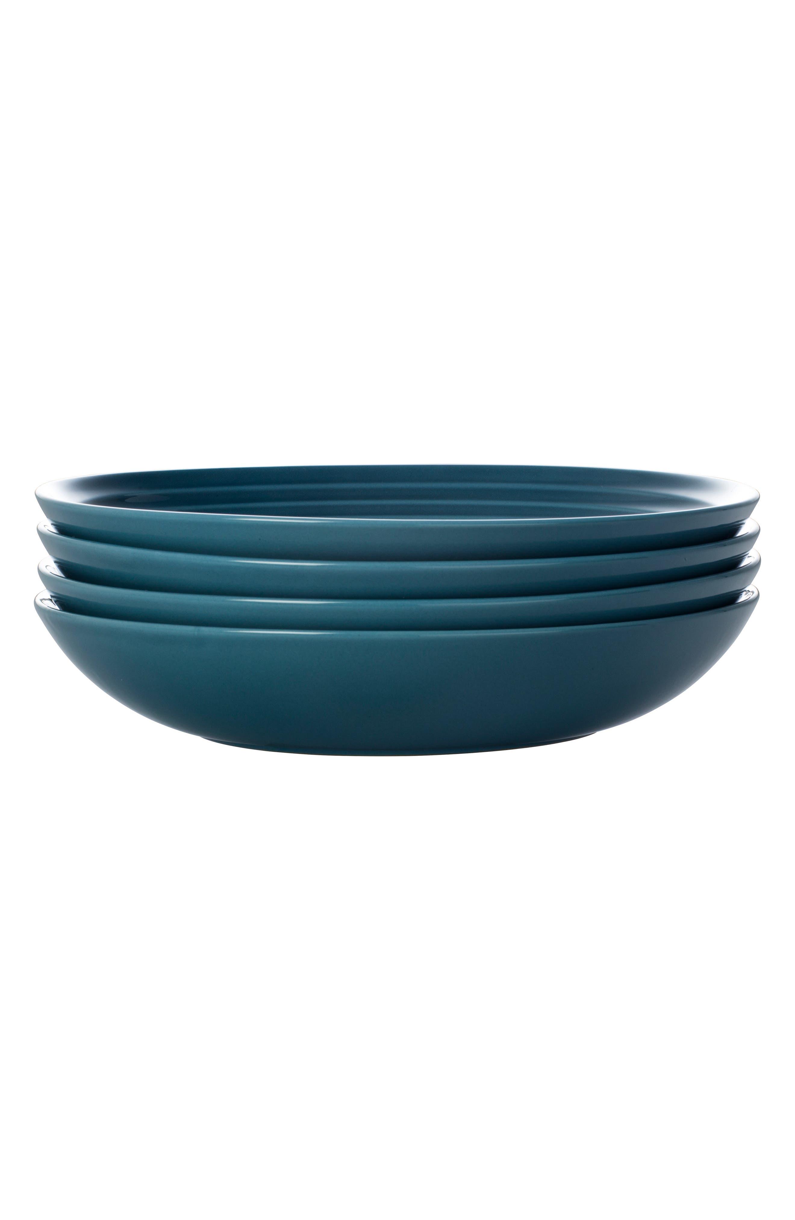 Le Creuset Set Of 4 9 34Inch Pasta Bowls Size One Size  Blue