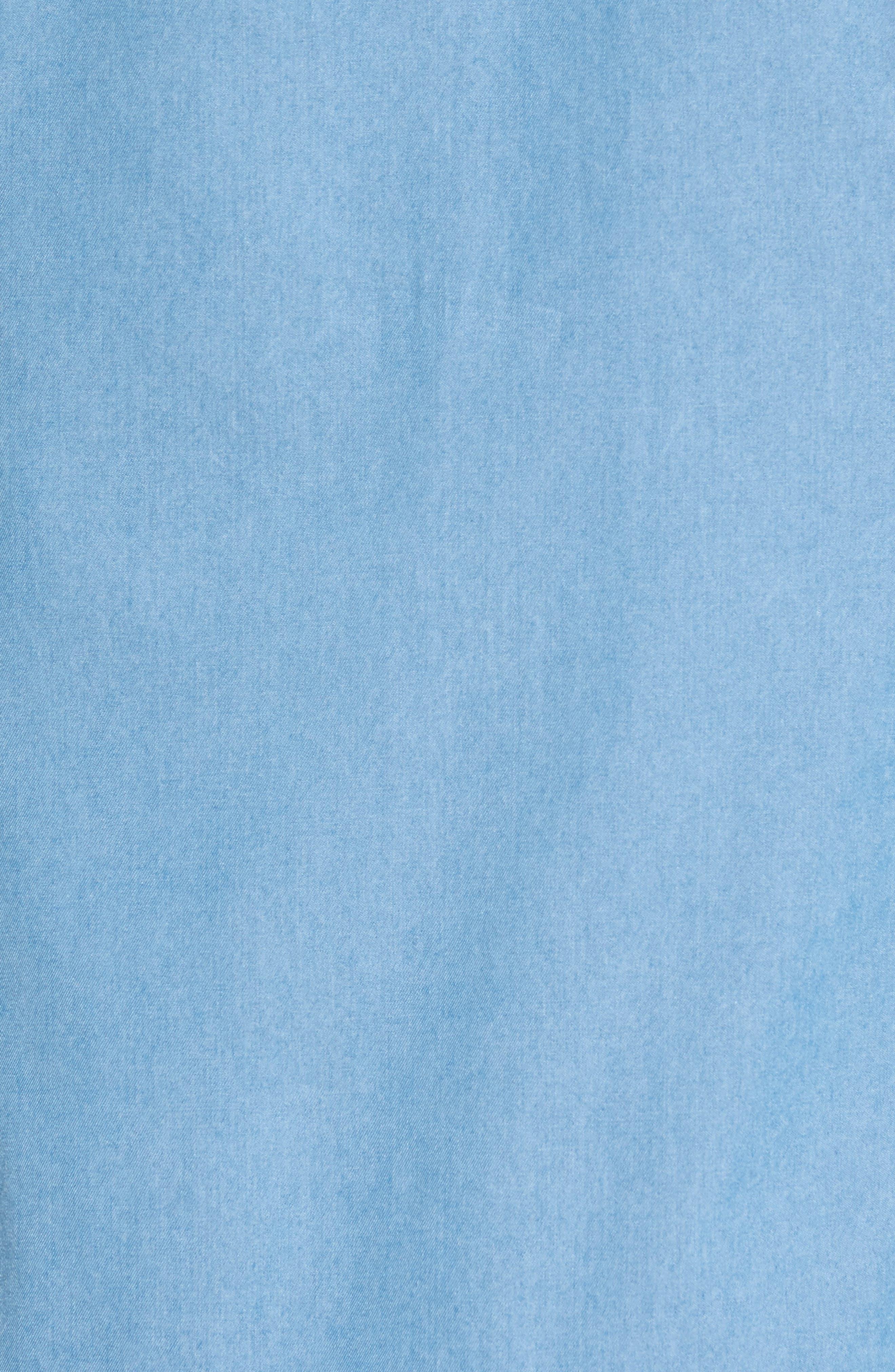 Denim Sport Shirt,                             Alternate thumbnail 5, color,                             402