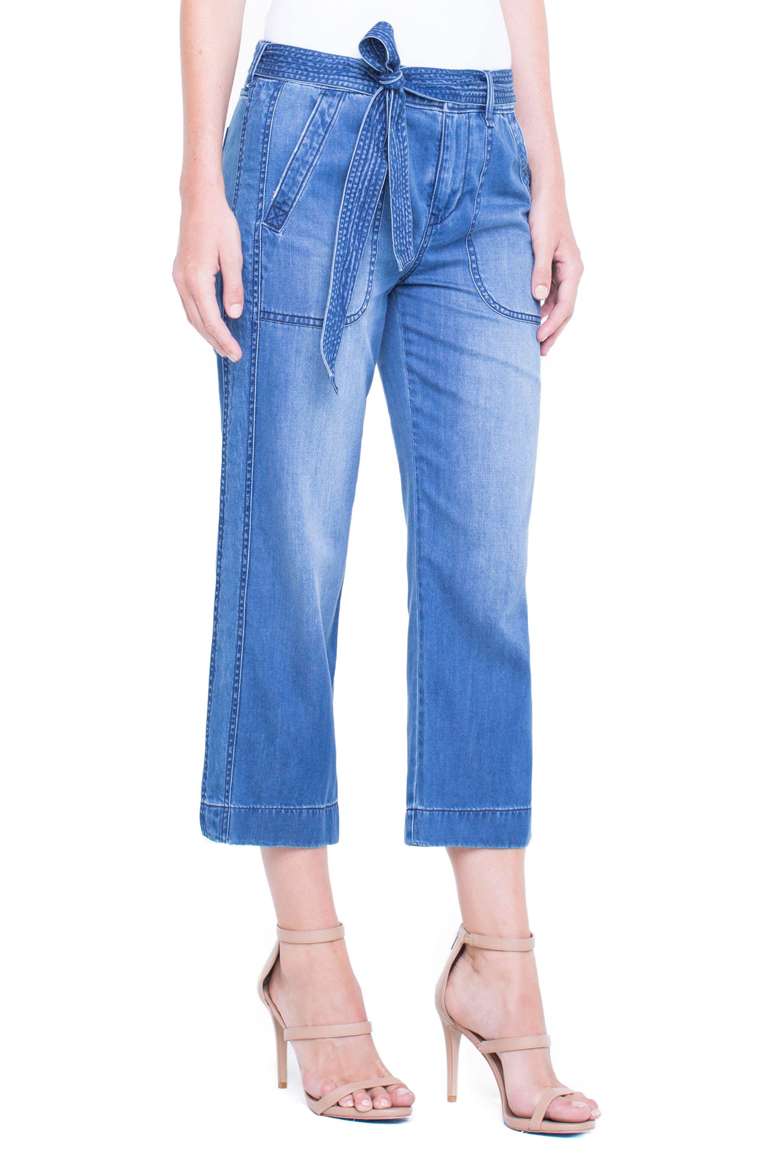 Norah Capri Jeans,                             Alternate thumbnail 4, color,                             408