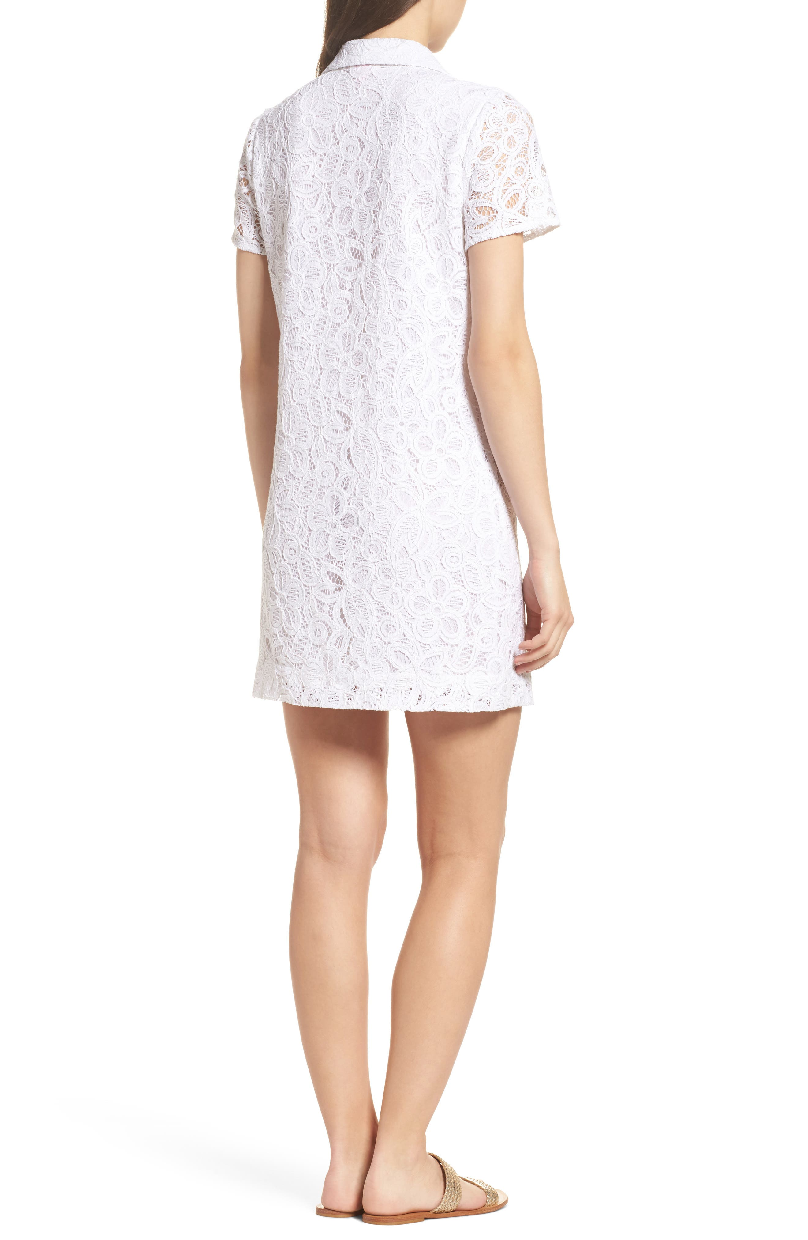 Nelle Lace Shirtdress,                             Alternate thumbnail 2, color,