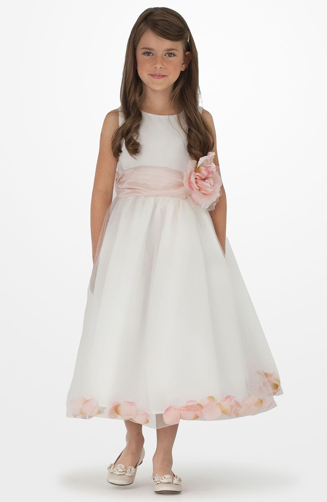 Petal Dress,                             Alternate thumbnail 2, color,                             WHITE/ WHITE