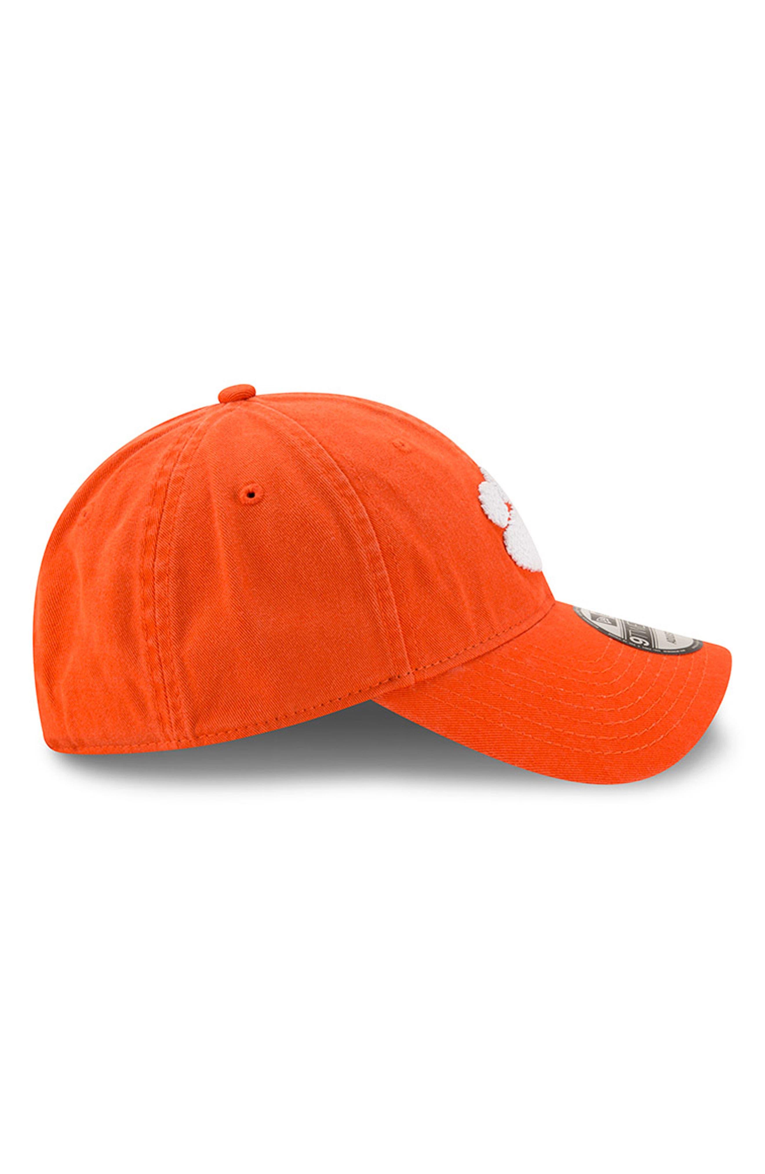 New Era Collegiate Core Classic - Clemson Tigers Baseball Cap,                             Alternate thumbnail 4, color,