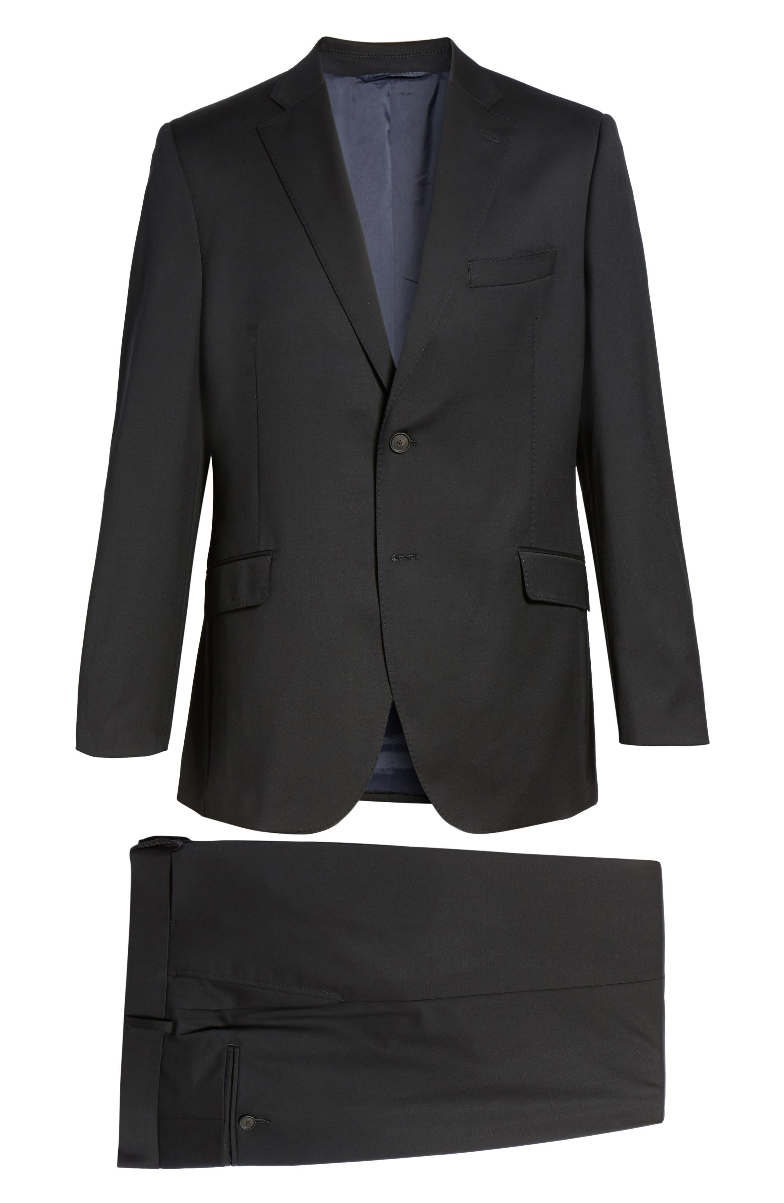 Keidis Aim Classic Fit Stretch Wool Suit,                             Alternate thumbnail 8, color,                             BLACK