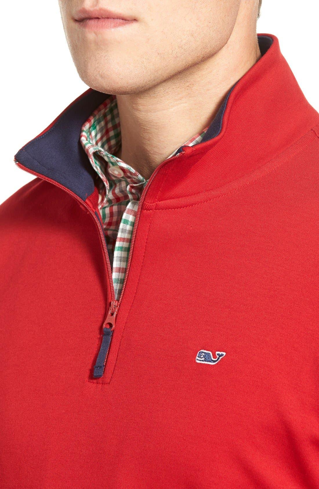 Quarter Zip Cotton Jersey Sweatshirt,                             Alternate thumbnail 6, color,                             020