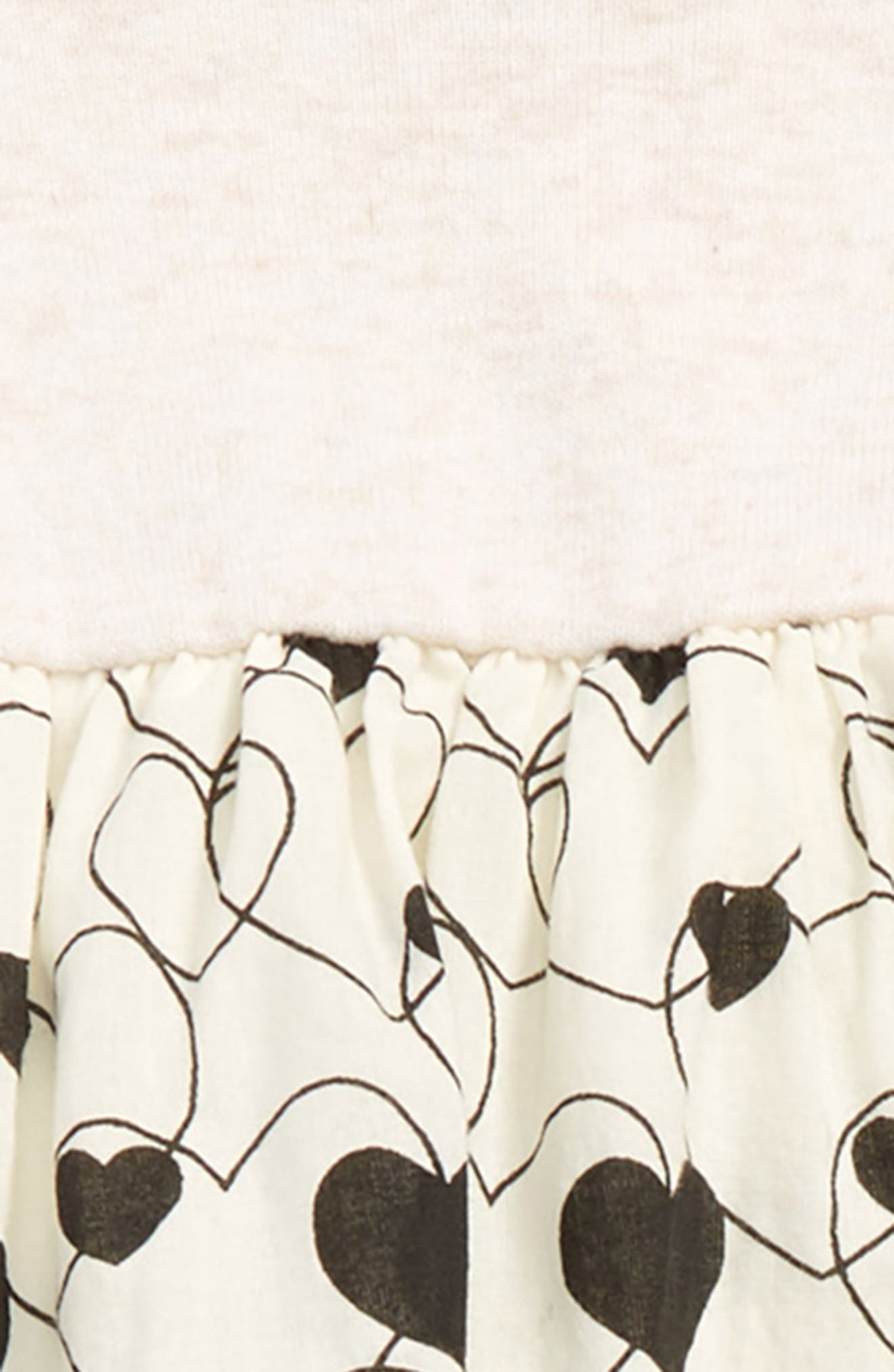 Dress & Leggings Set,                             Alternate thumbnail 2, color,                             IVORY VANILLA HEARTS