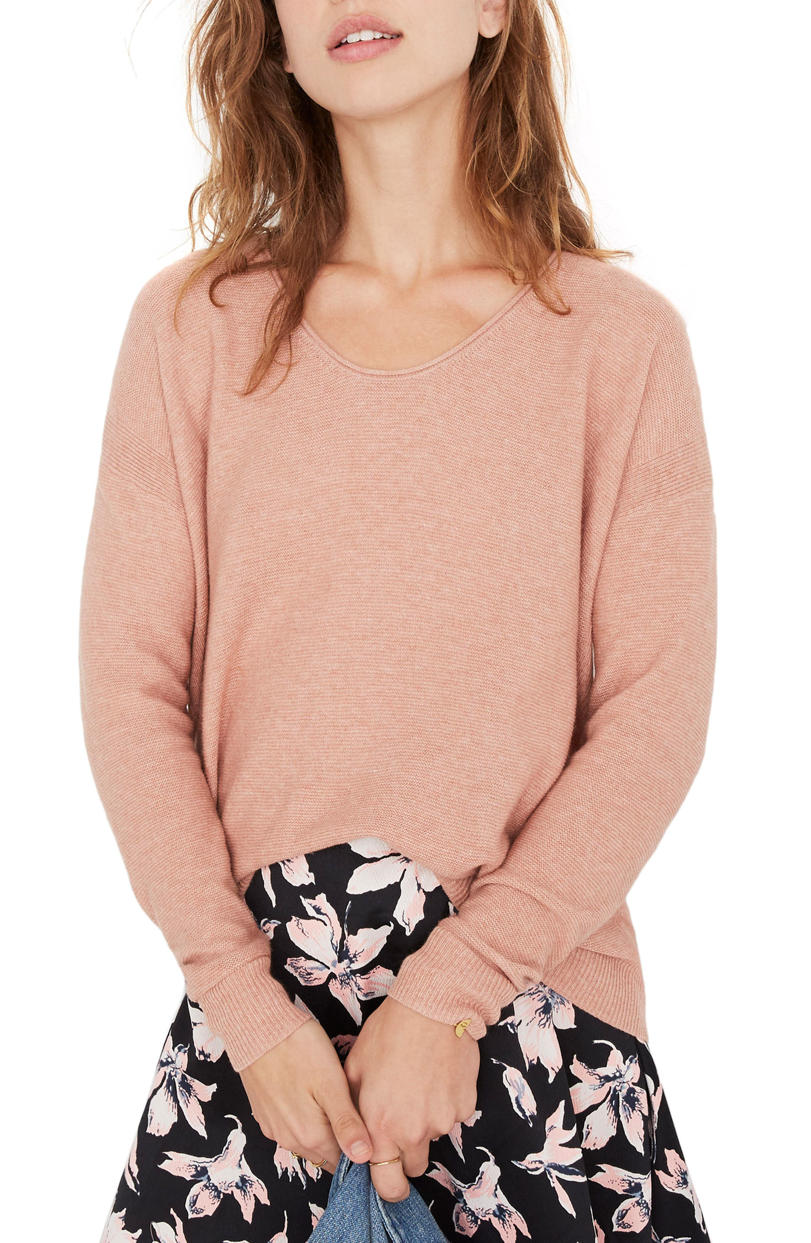 Kimball Sweater, Main, color, HEATHER ROSE