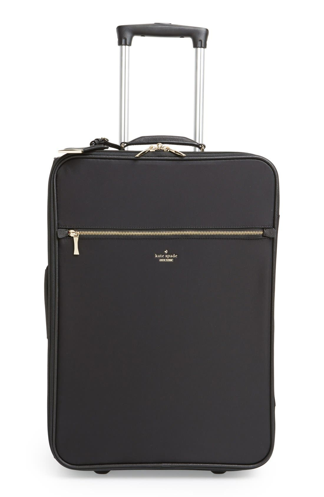 'classic' nylon international two-wheel carry-on suitcase,                             Main thumbnail 1, color,                             001