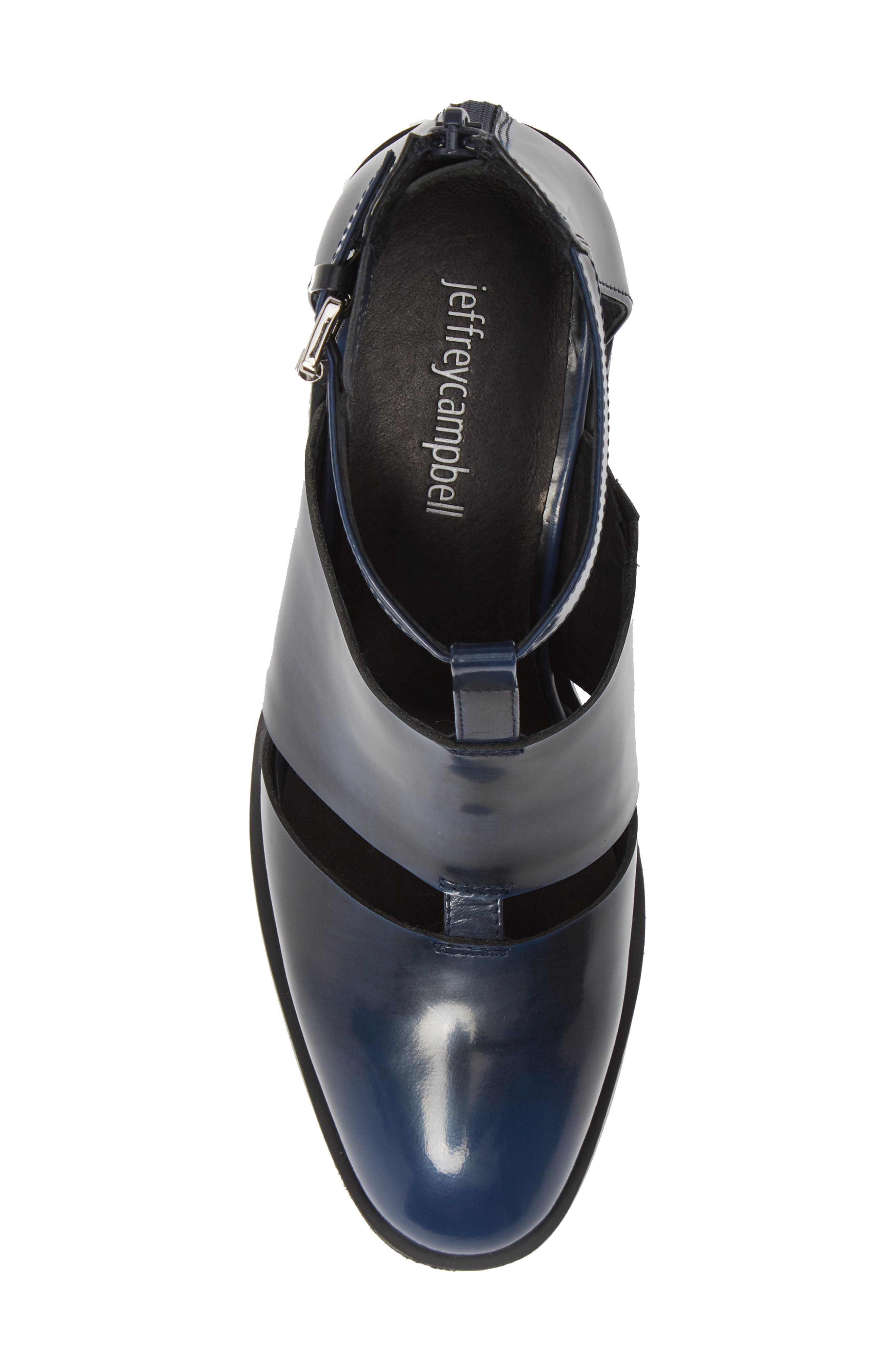 'Melina' T-Strap Shoe,                             Alternate thumbnail 5, color,                             NAVY RUB OFF