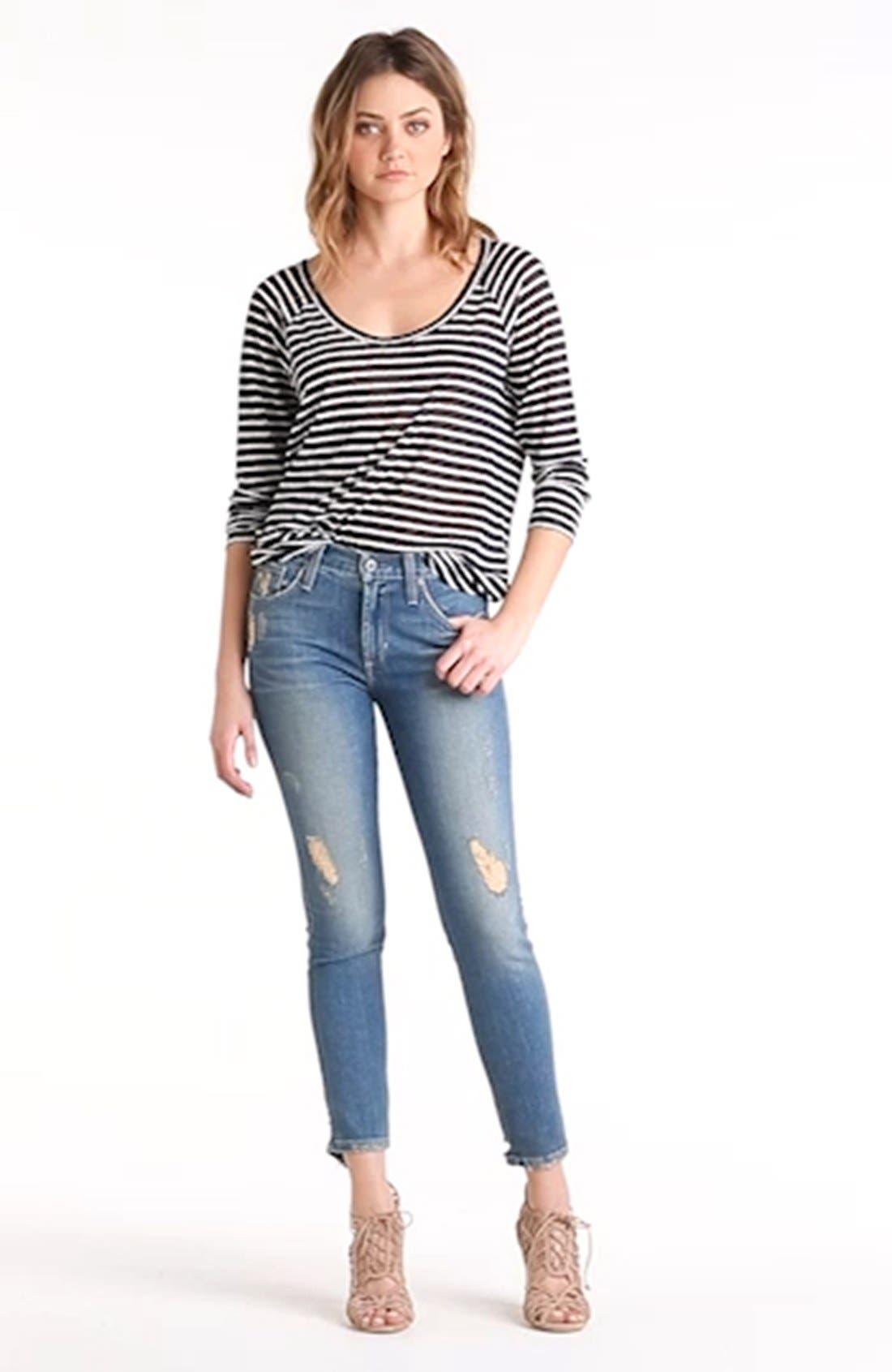 'Twiggy' Ankle Skinny Jeans,                             Alternate thumbnail 3, color,                             400
