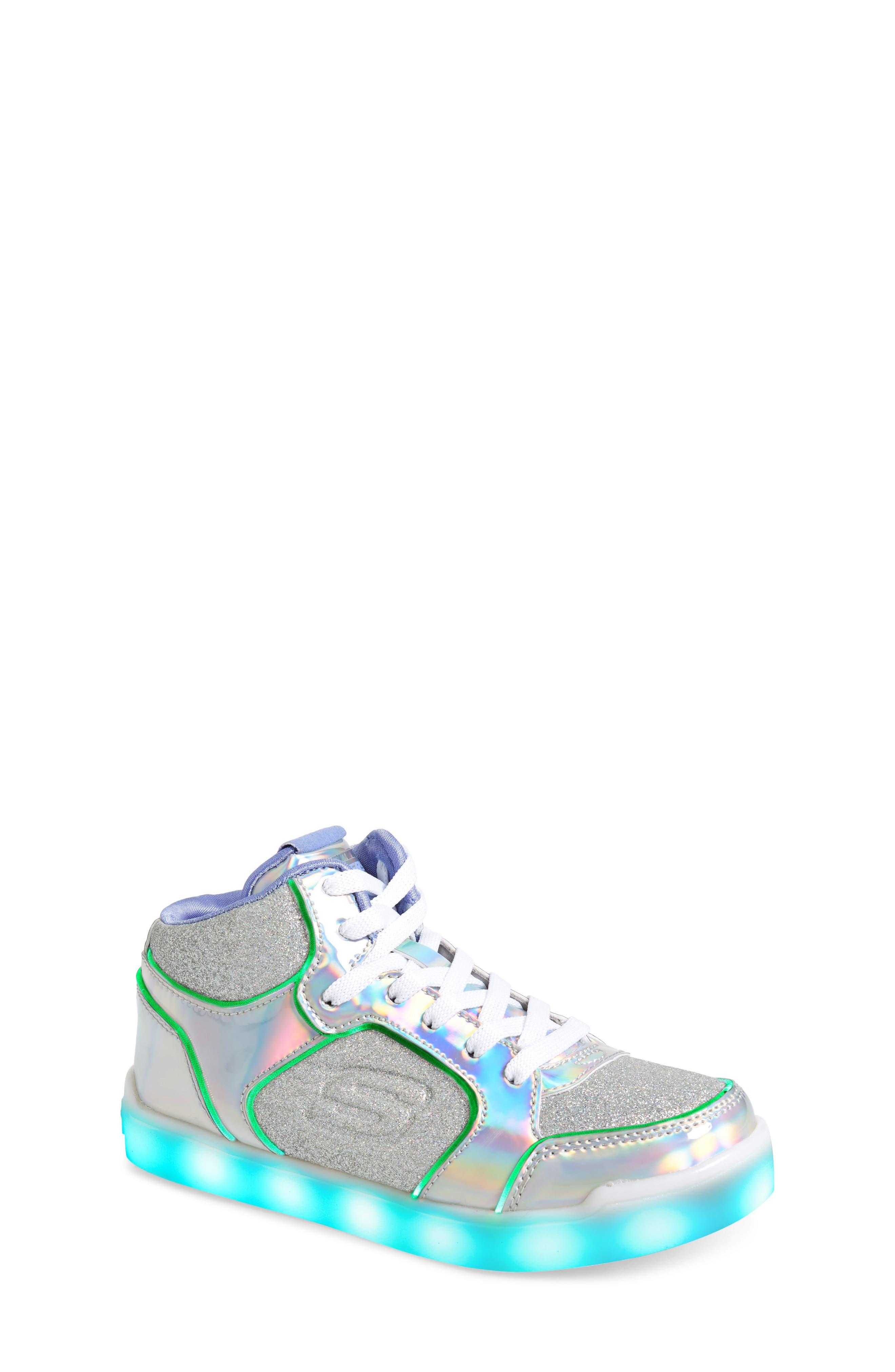 SKECHERS,                             Energy Lights Pro Ultra Light-Up Sneaker,                             Alternate thumbnail 7, color,                             SILVER