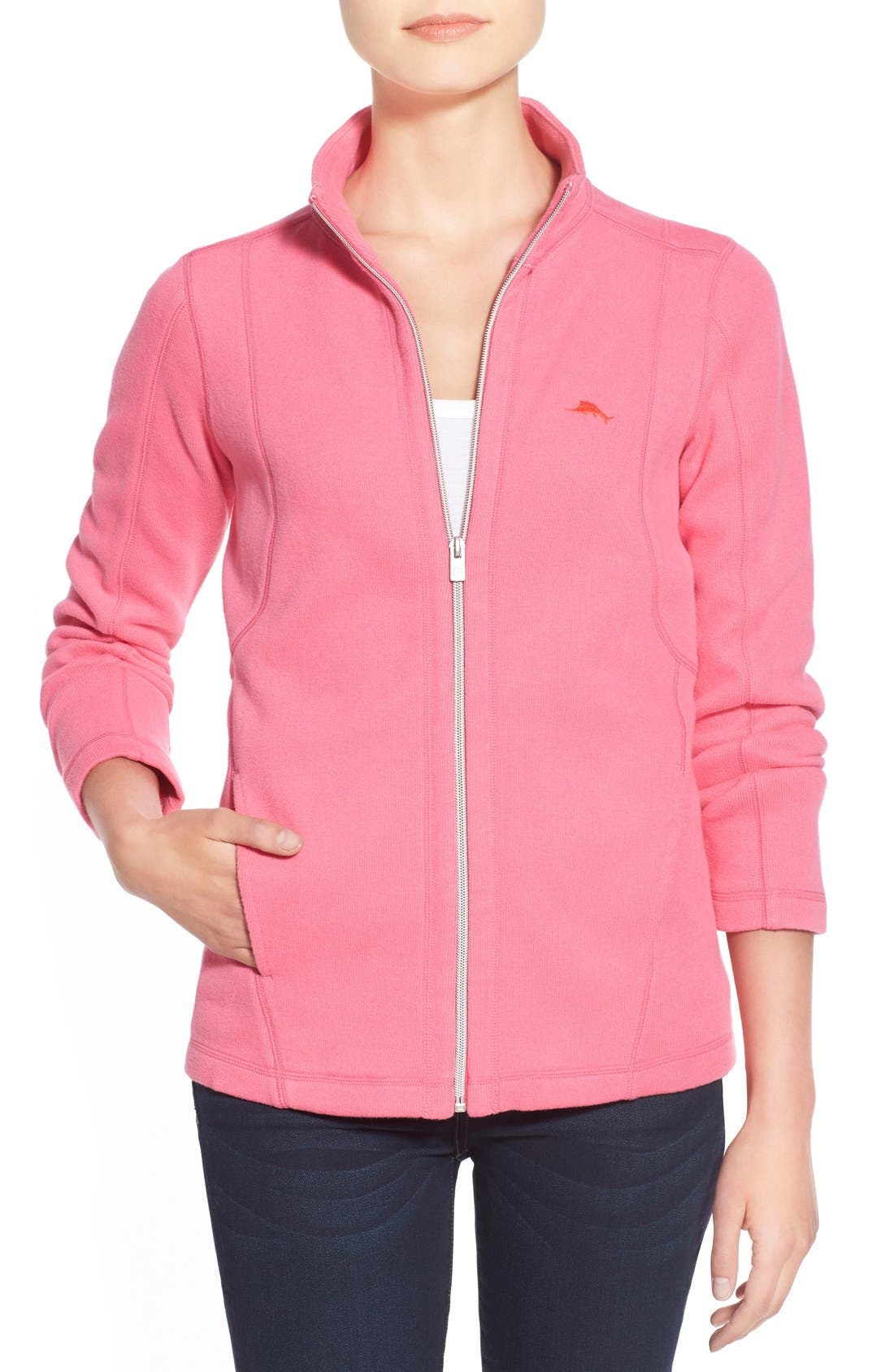'Aruba' Full Zip Sweatshirt,                             Main thumbnail 6, color,