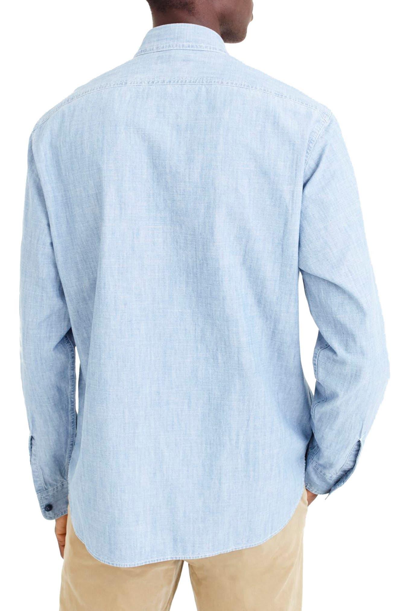 Wallace & Barnes Chambray Work Shirt,                             Alternate thumbnail 2, color,