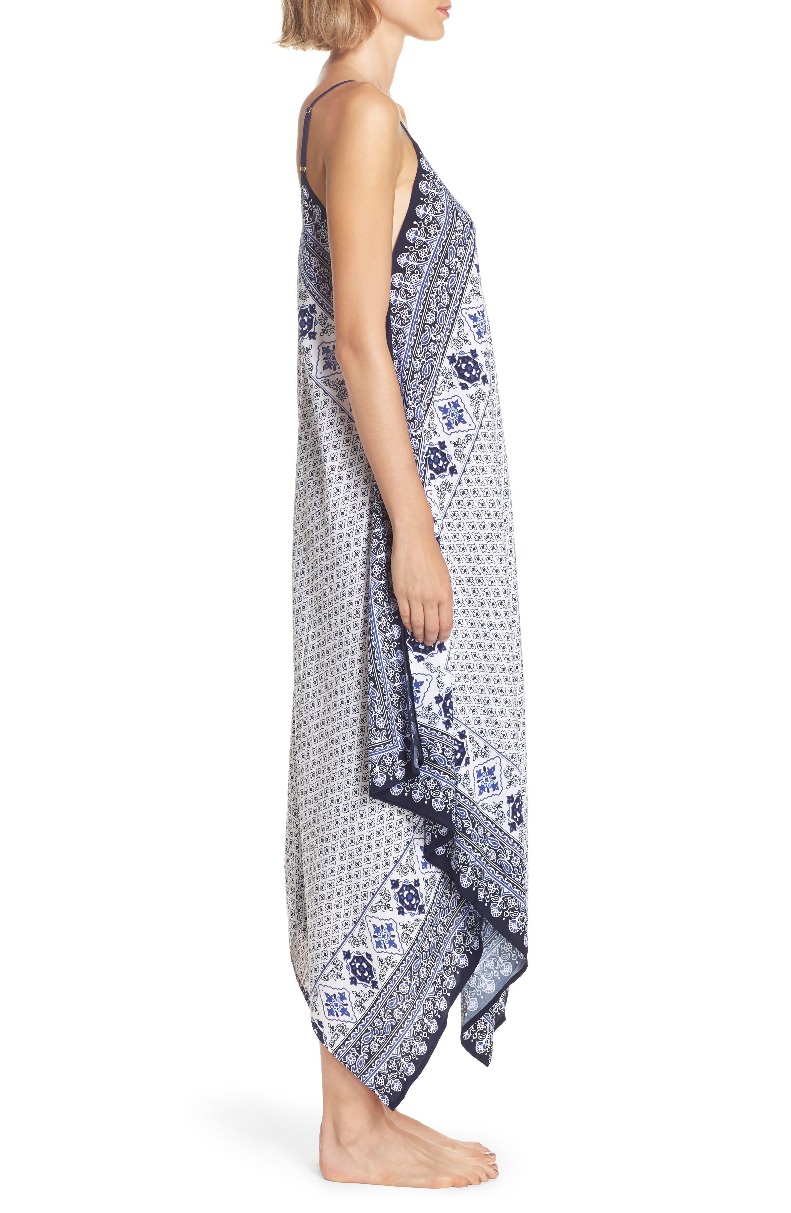 Border Print Cover-Up Maxi Dress,                             Alternate thumbnail 3, color,                             400