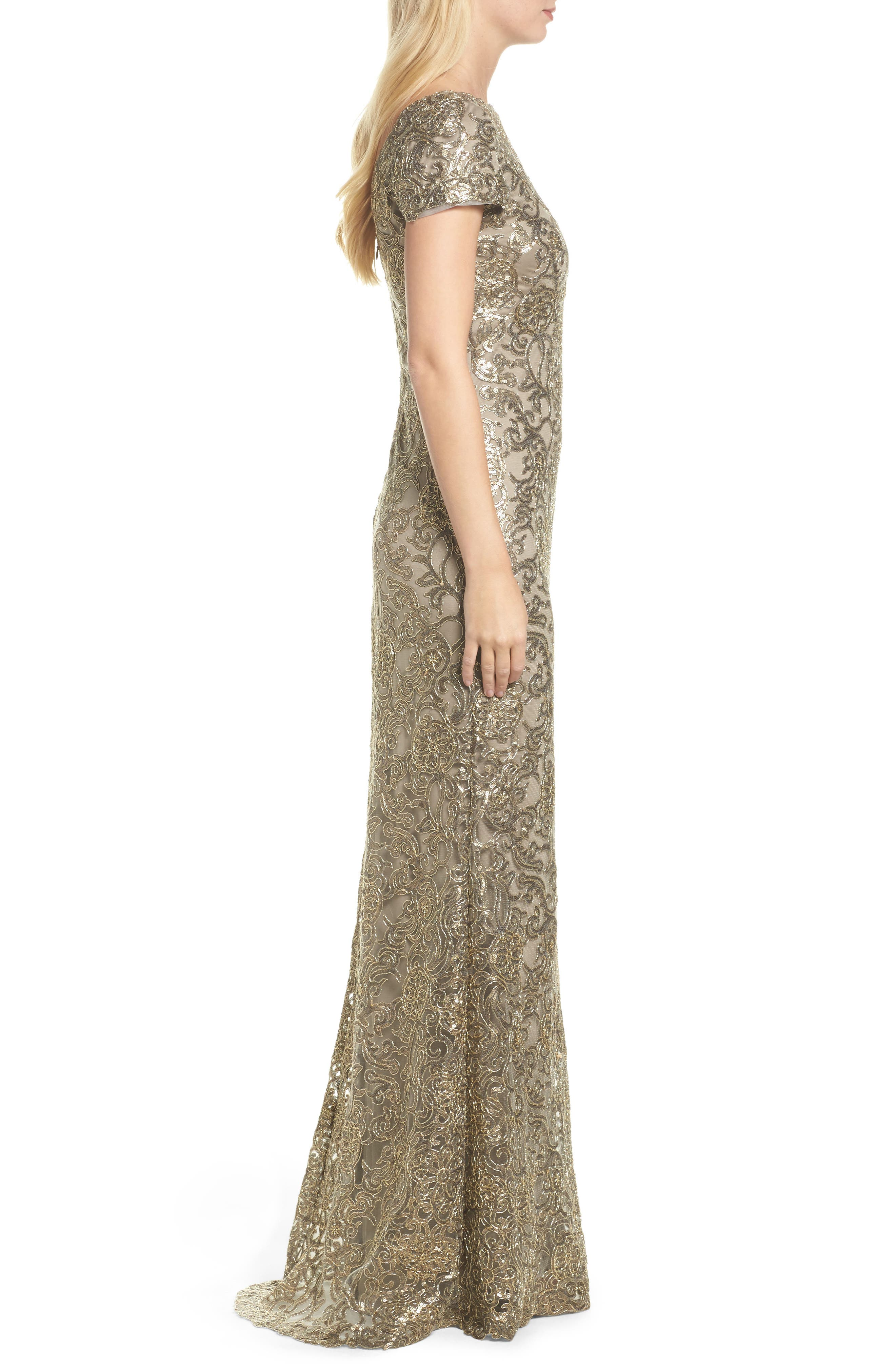 Corded Lace Gown,                             Alternate thumbnail 3, color,                             251