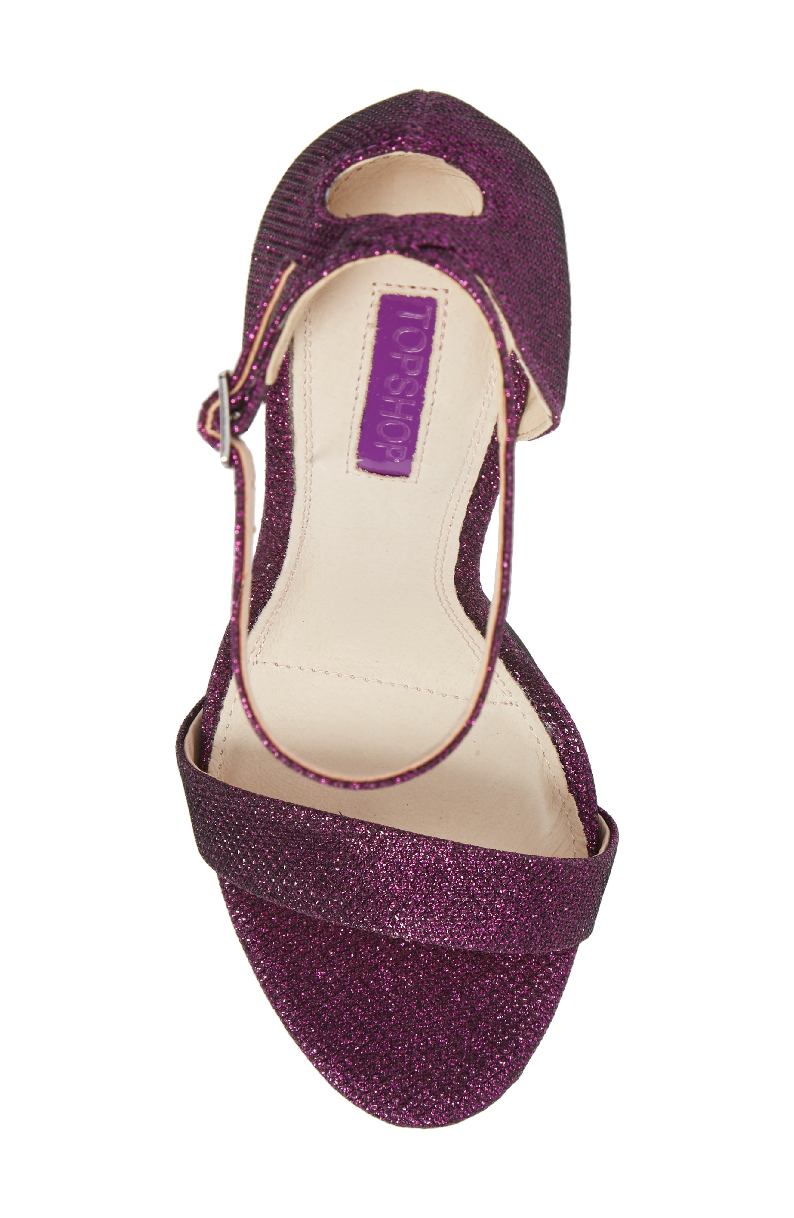 Raphie Ankle Strap Sandal,                             Alternate thumbnail 5, color,                             PURPLE