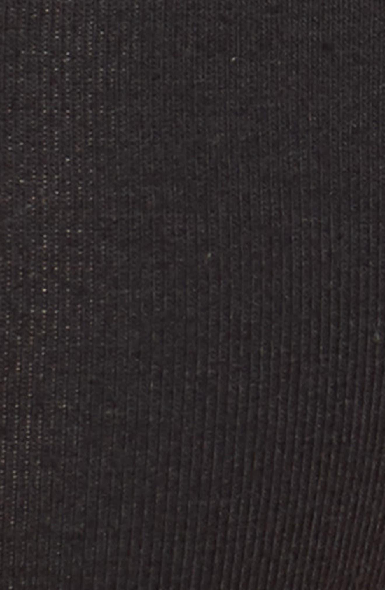 Cotton Thong,                             Alternate thumbnail 4, color,                             BLACK/ GOLD