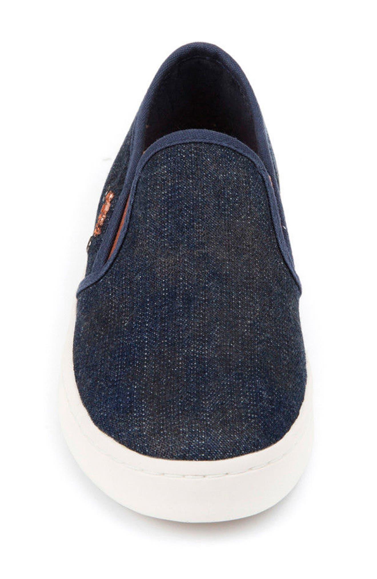 Jr Kiwi Slip-On Waterproof Sneaker,                             Alternate thumbnail 4, color,                             JEANS
