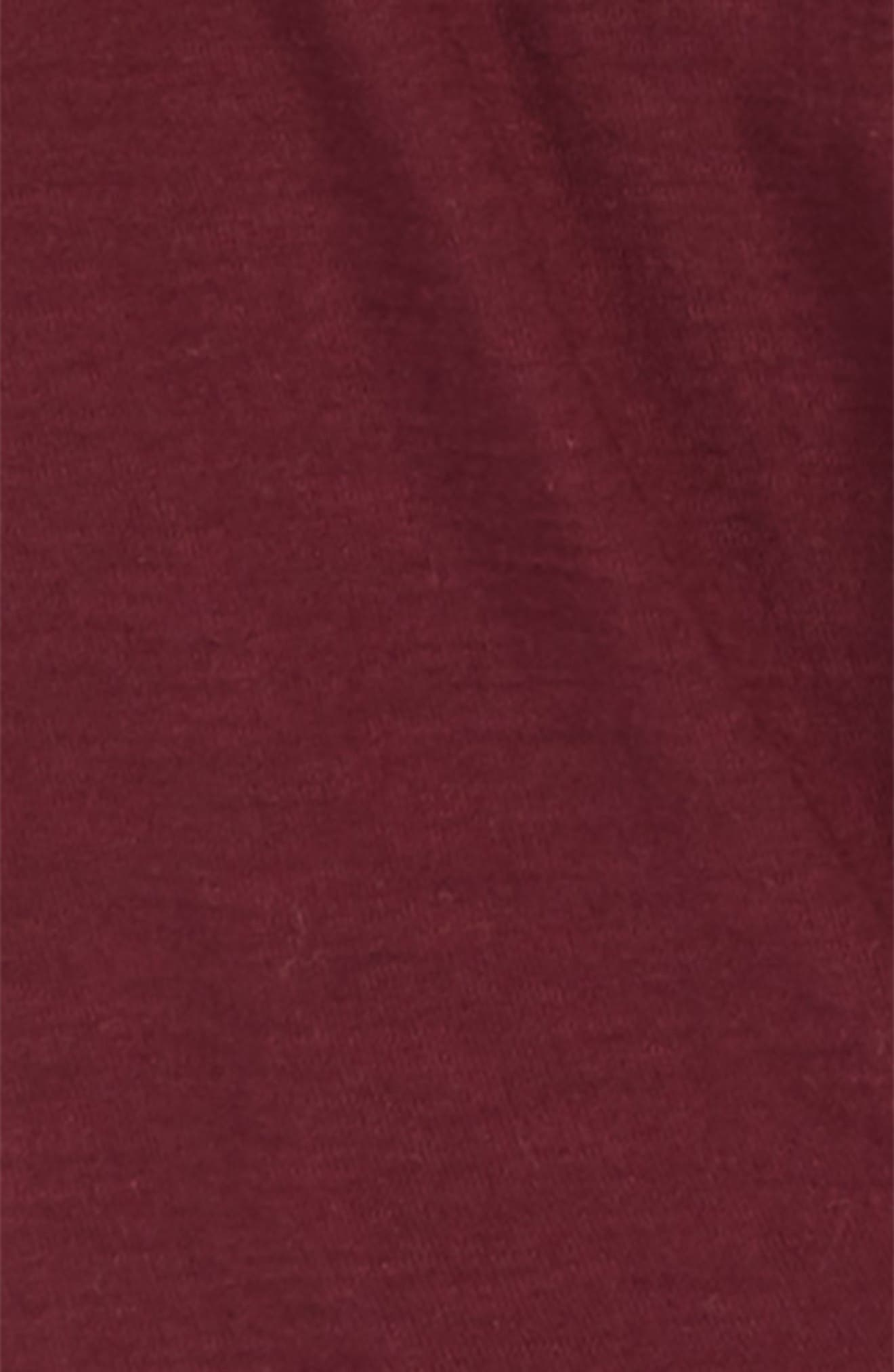 Nicole Tie-Front Tee,                             Alternate thumbnail 2, color,                             BURGUNDY
