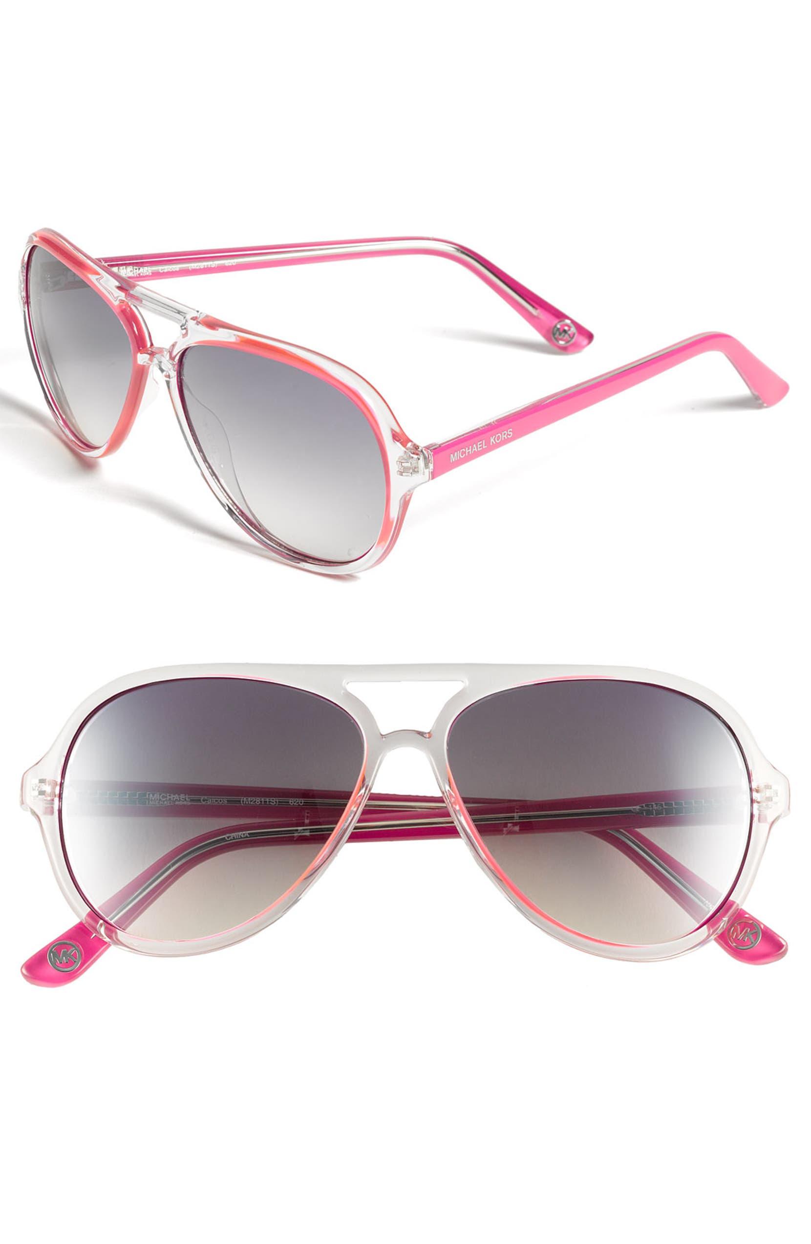 7693d02ab3 MICHAEL Michael Kors 57mm Aviator Sunglasses