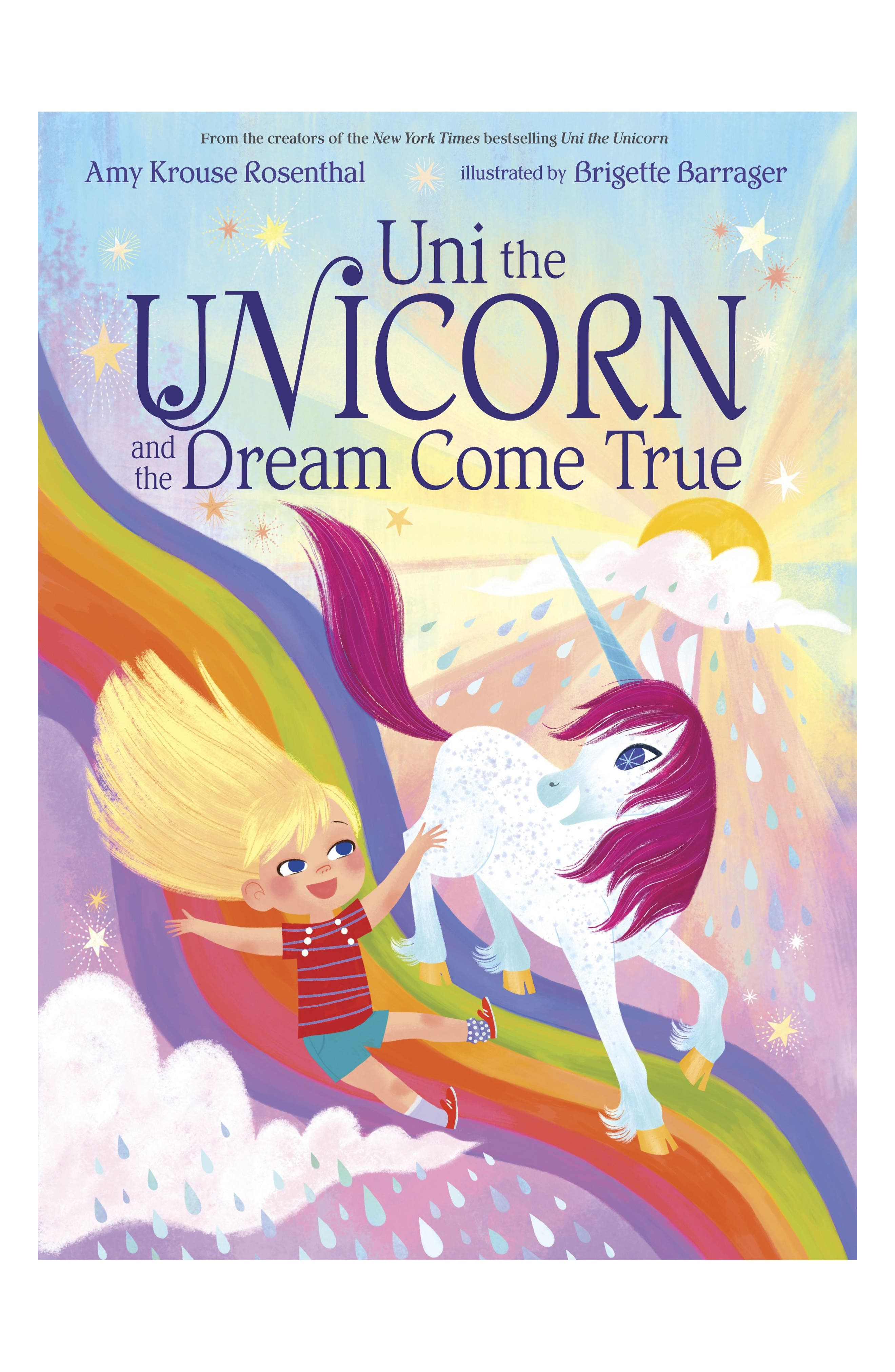 'Uni the Unicorn & the Dream Come True' Board Book,                             Main thumbnail 1, color,                             PINK