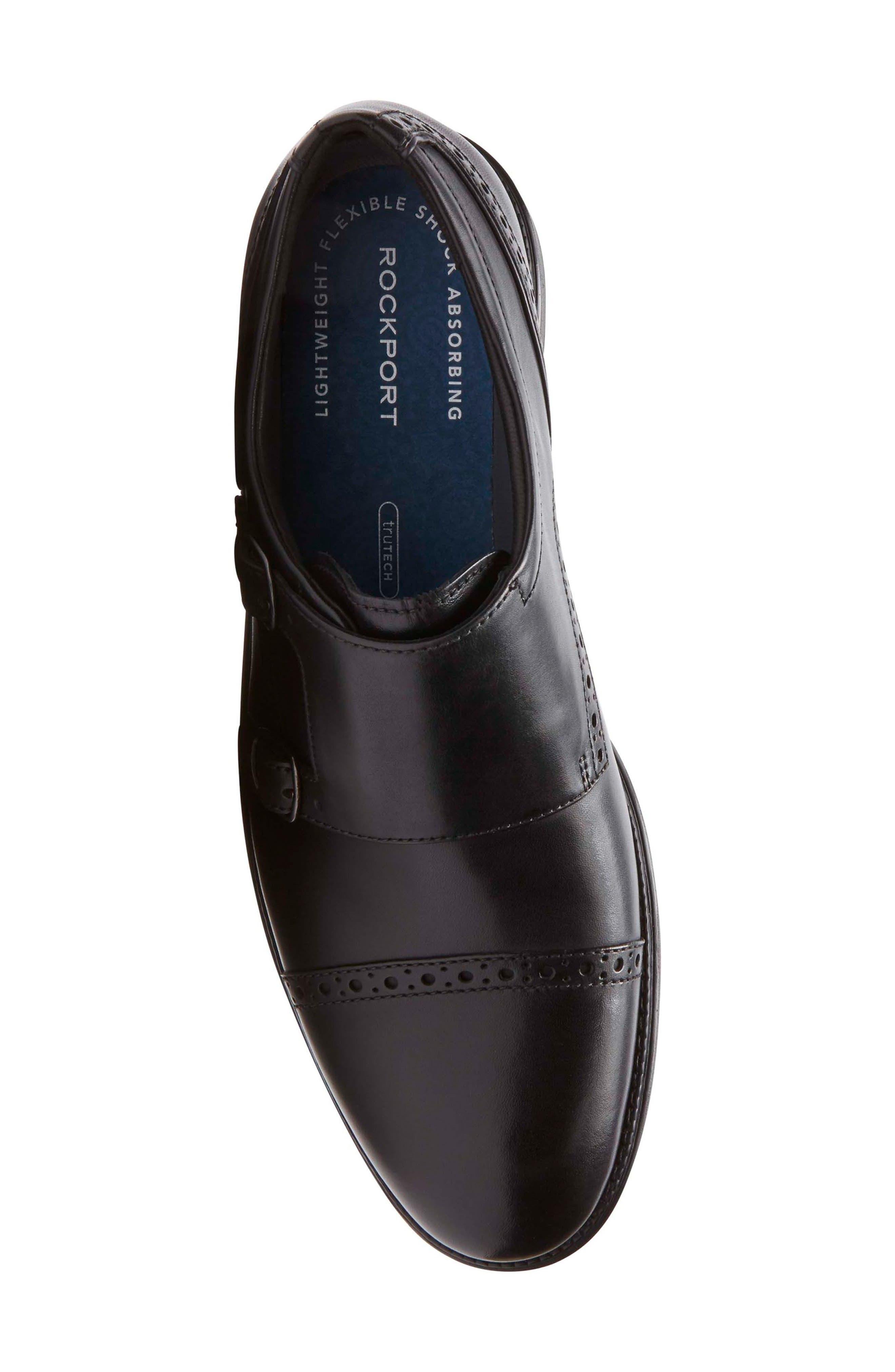 Madson Double Monk Strap Shoe,                             Alternate thumbnail 5, color,                             001