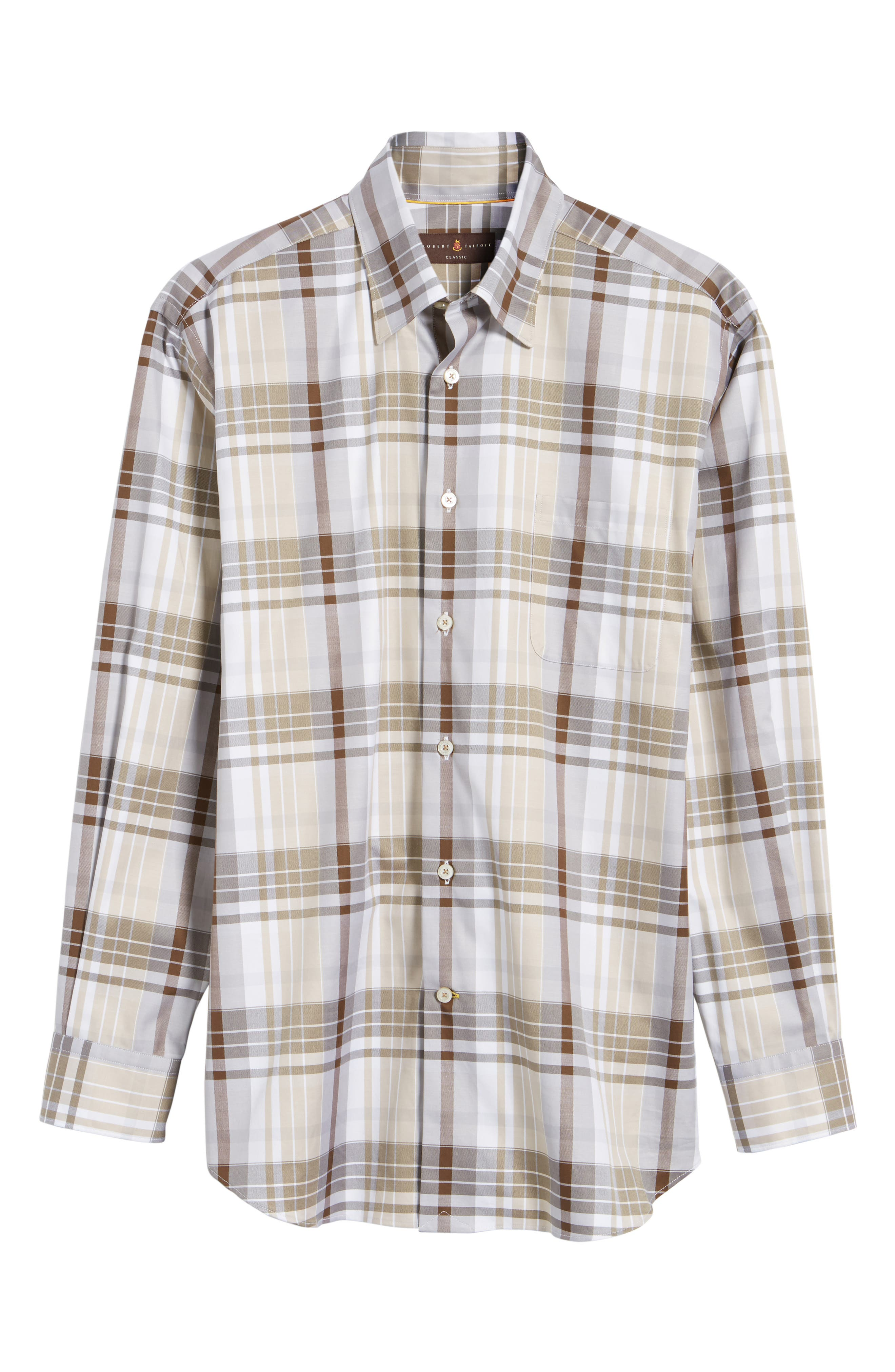 Anderson Classic Fit Plaid Micro Twill Sport Shirt,                             Alternate thumbnail 6, color,
