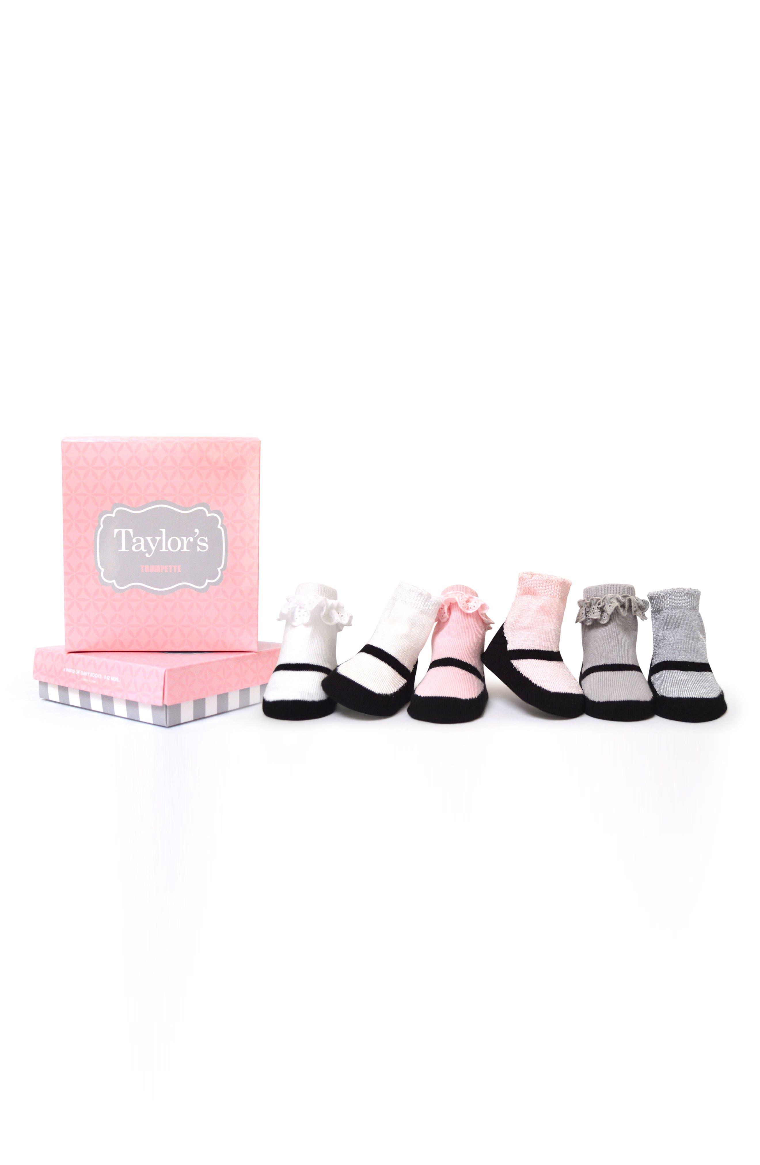 Taylors 6-Pack Socks,                         Main,                         color, 001
