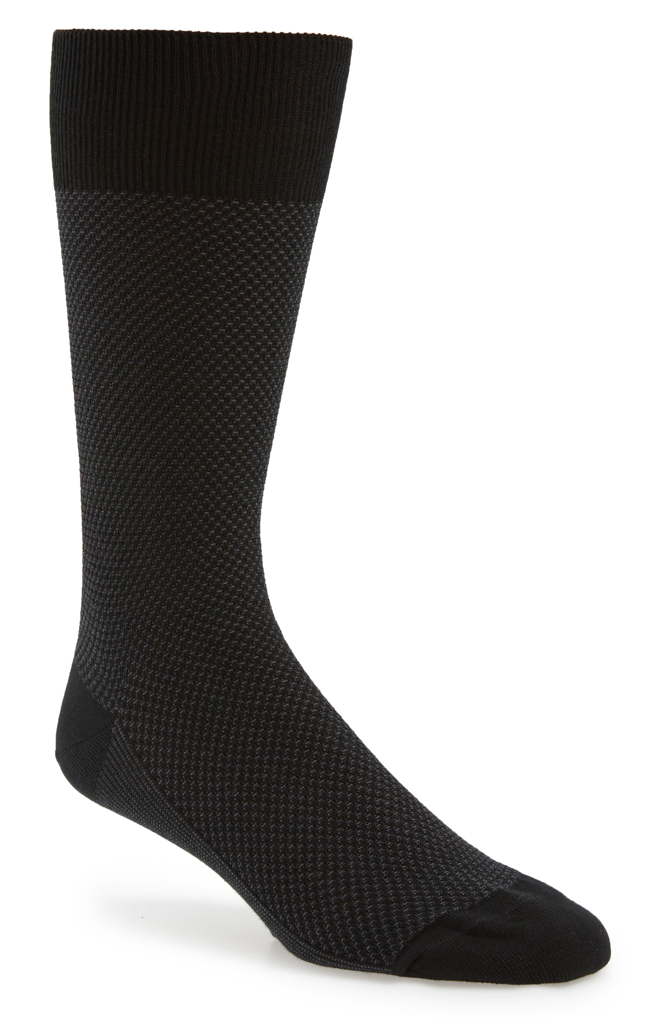 Waffle Texture Socks,                             Main thumbnail 1, color,                             001