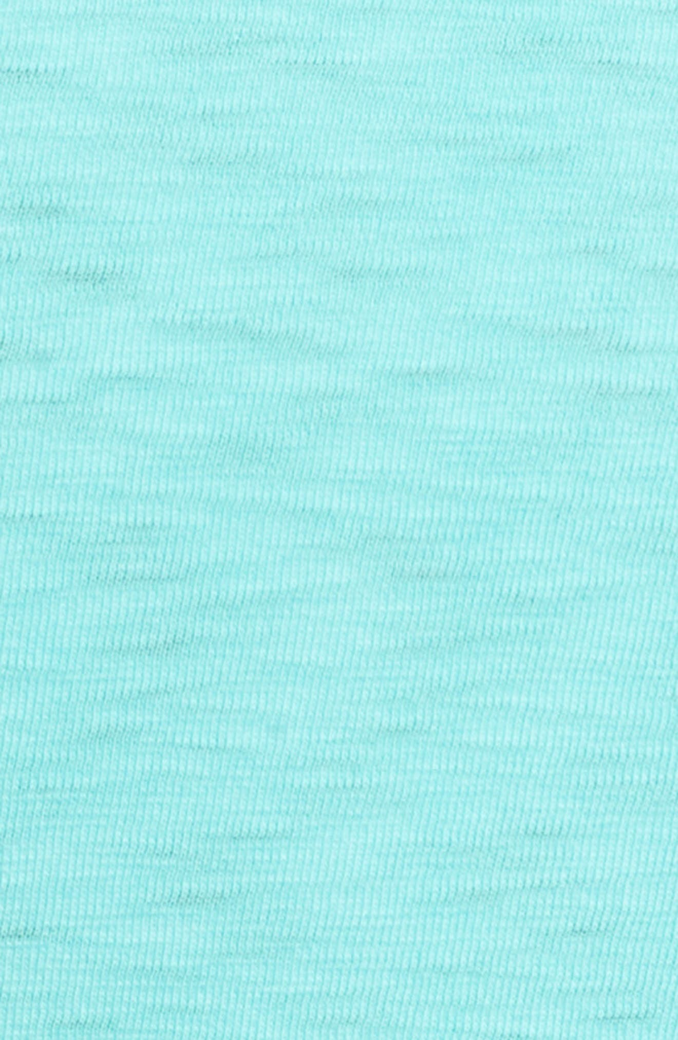 Slub Knit T-Shirt,                             Alternate thumbnail 5, color,                             100