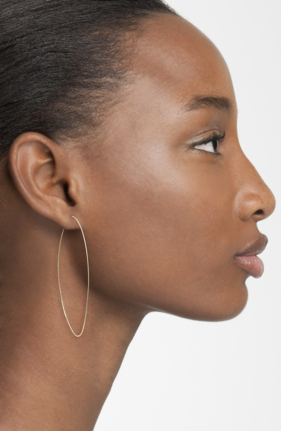 'Magic' Large Oval Hoop Earrings,                             Alternate thumbnail 2, color,                             YELLOW GOLD