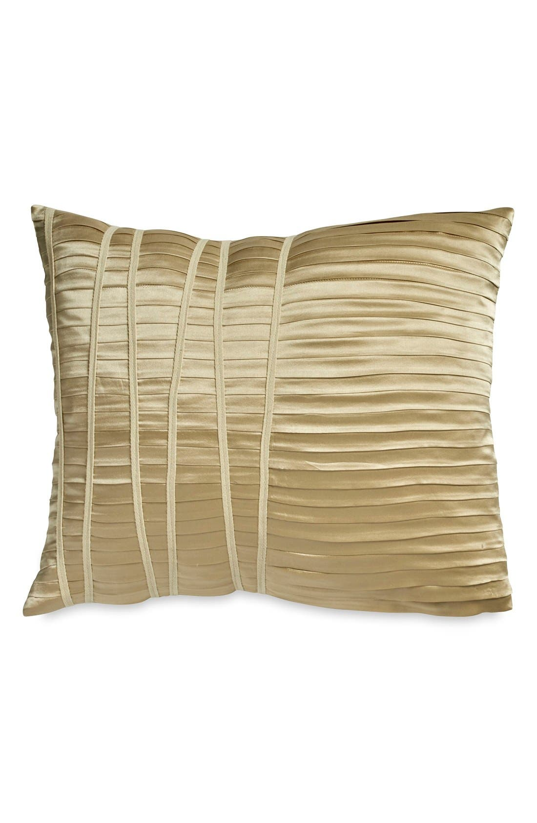 Donna Karan Collection 'Reflection' Accent Pillow,                             Main thumbnail 1, color,                             GOLD DUST