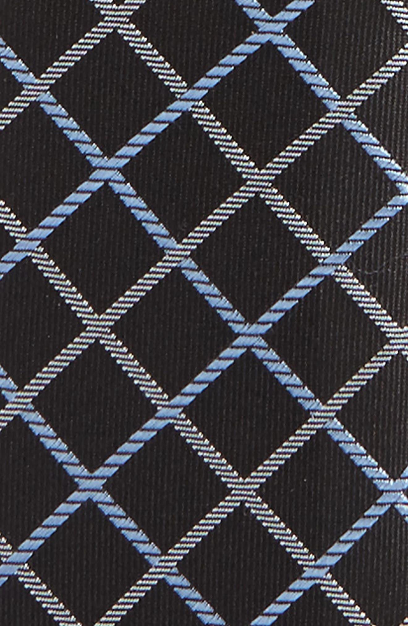 Plaid Silk Zip Tie,                             Alternate thumbnail 9, color,