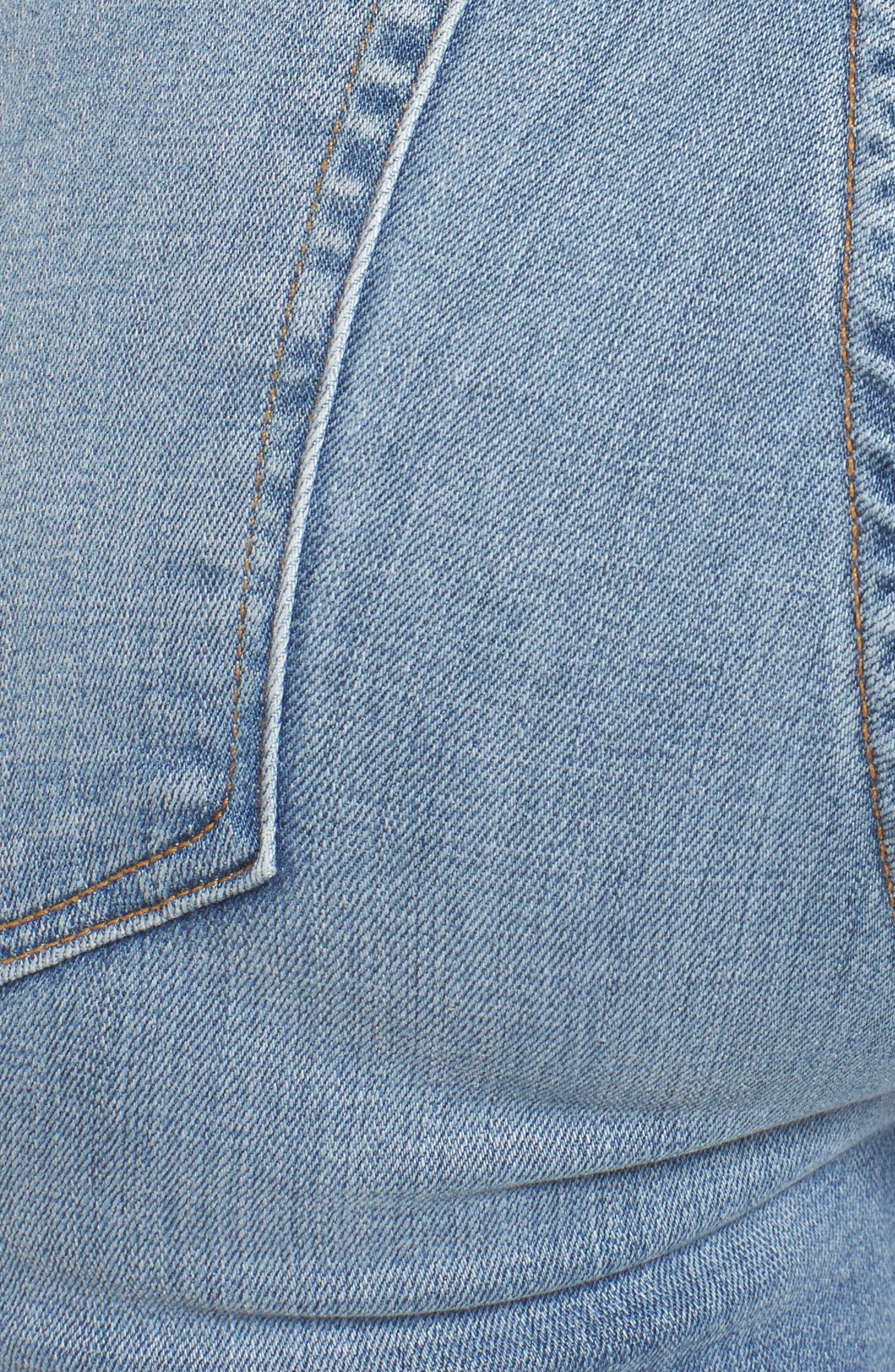 Good Legs High Waist Cascade Hem Skinny Jeans,                             Alternate thumbnail 5, color,                             401