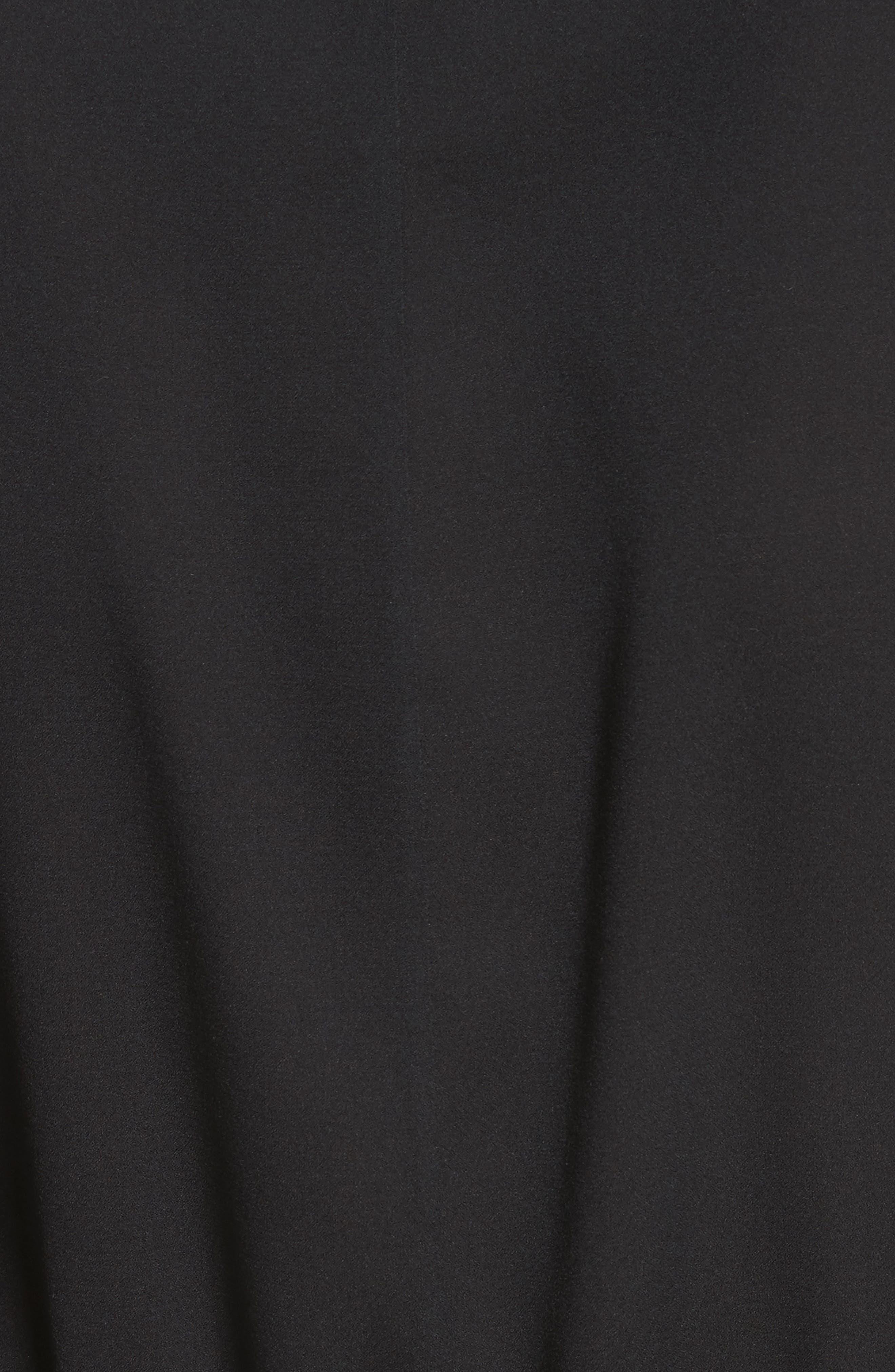 Stretch Silk Drawstring Tunic,                             Alternate thumbnail 5, color,                             001