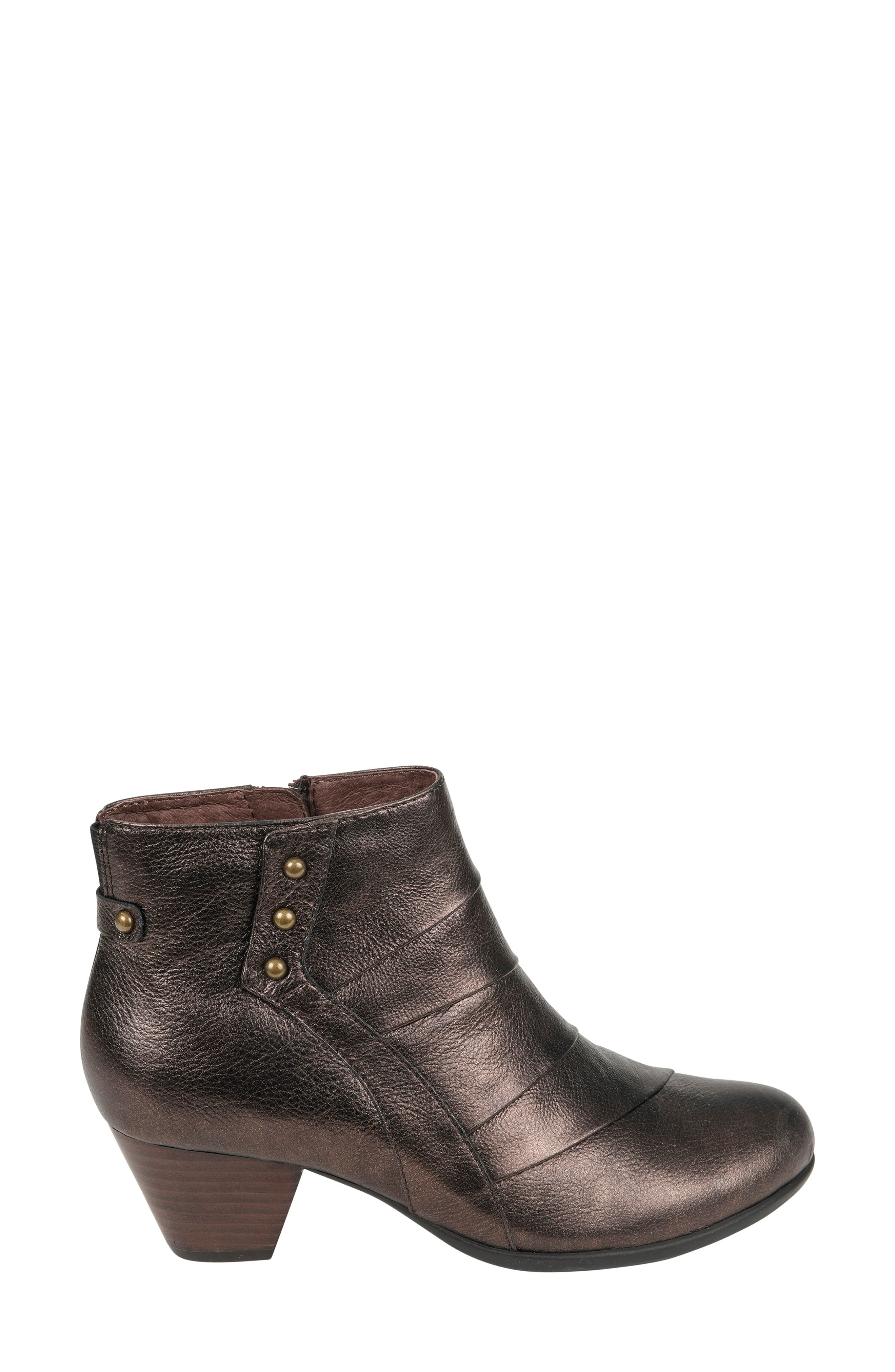 Hope Bootie,                             Alternate thumbnail 3, color,                             BRONZE LEATHER
