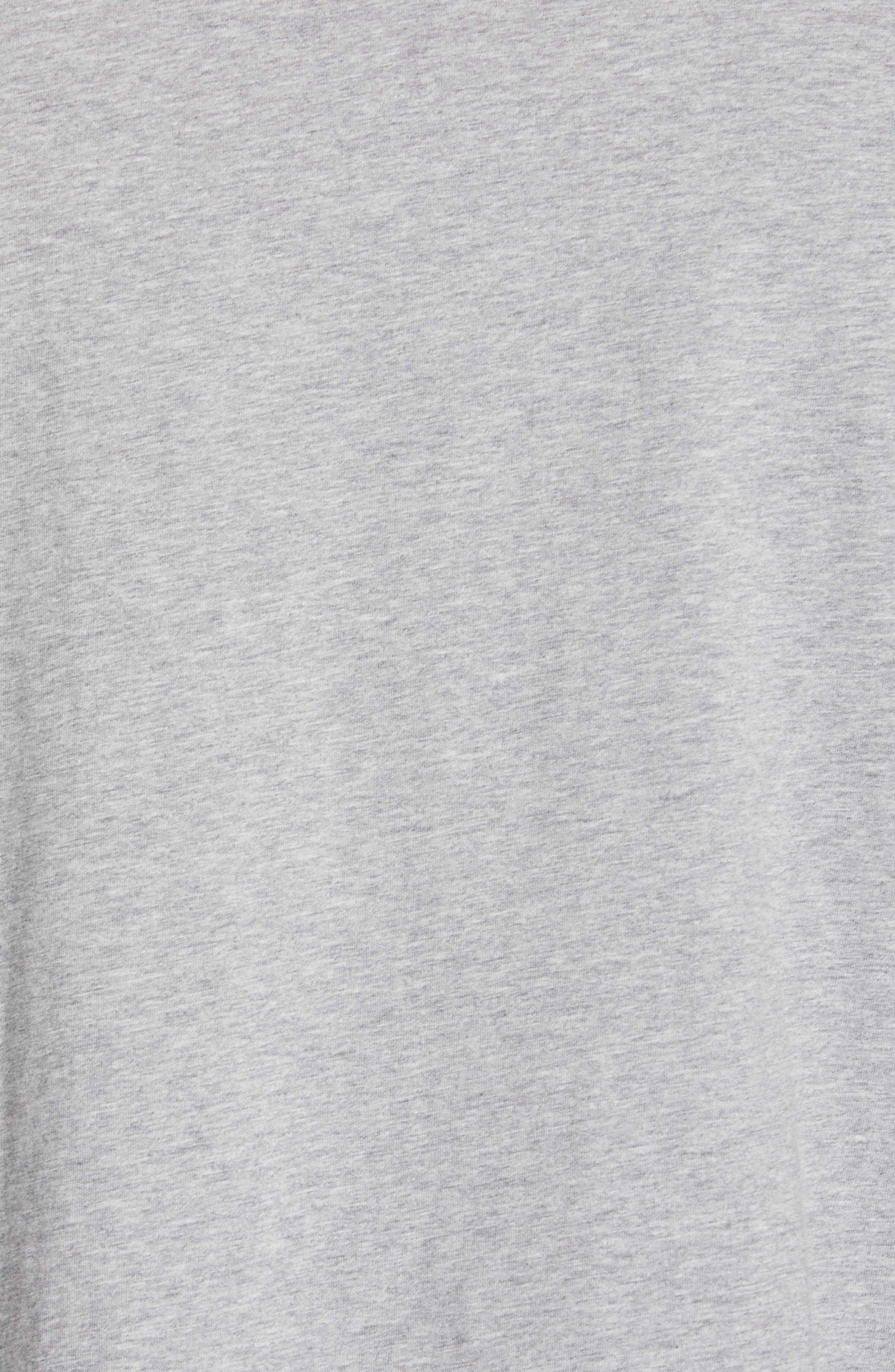 Lopori Logo T-Shirt,                             Alternate thumbnail 5, color,                             PALE GREY MELANGE