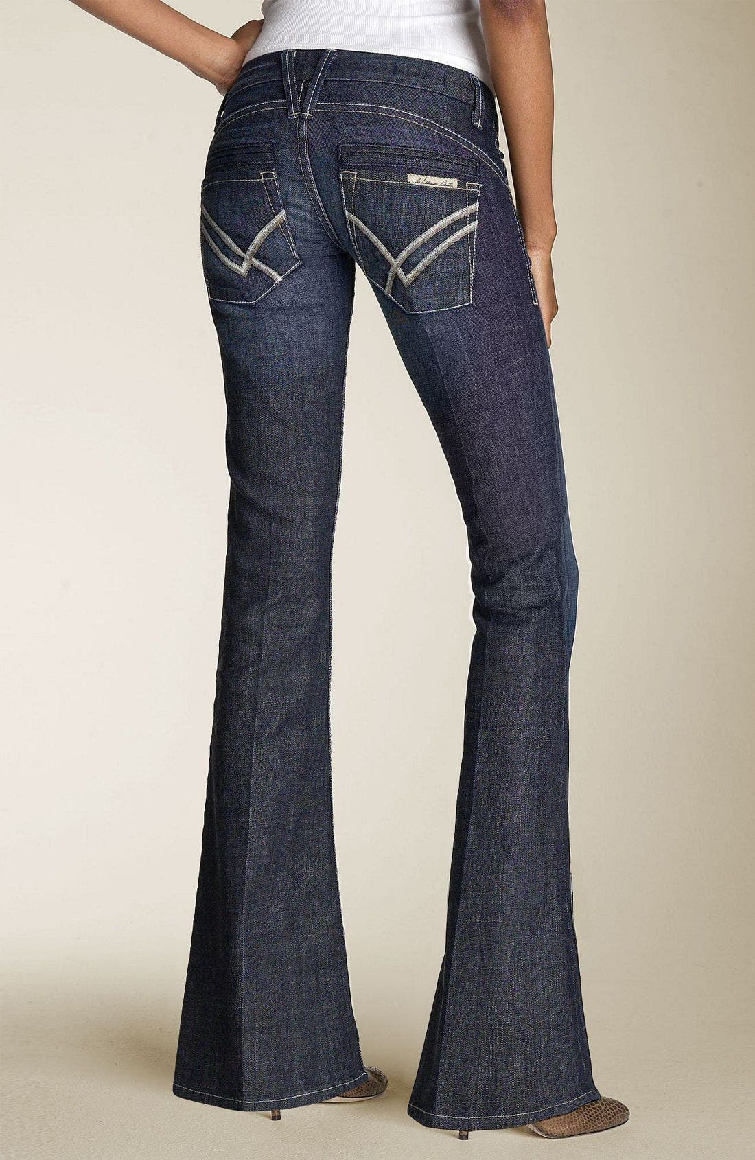 'Savoy' Ultra Low Rise Stretch Jeans,                             Alternate thumbnail 2, color,                             499