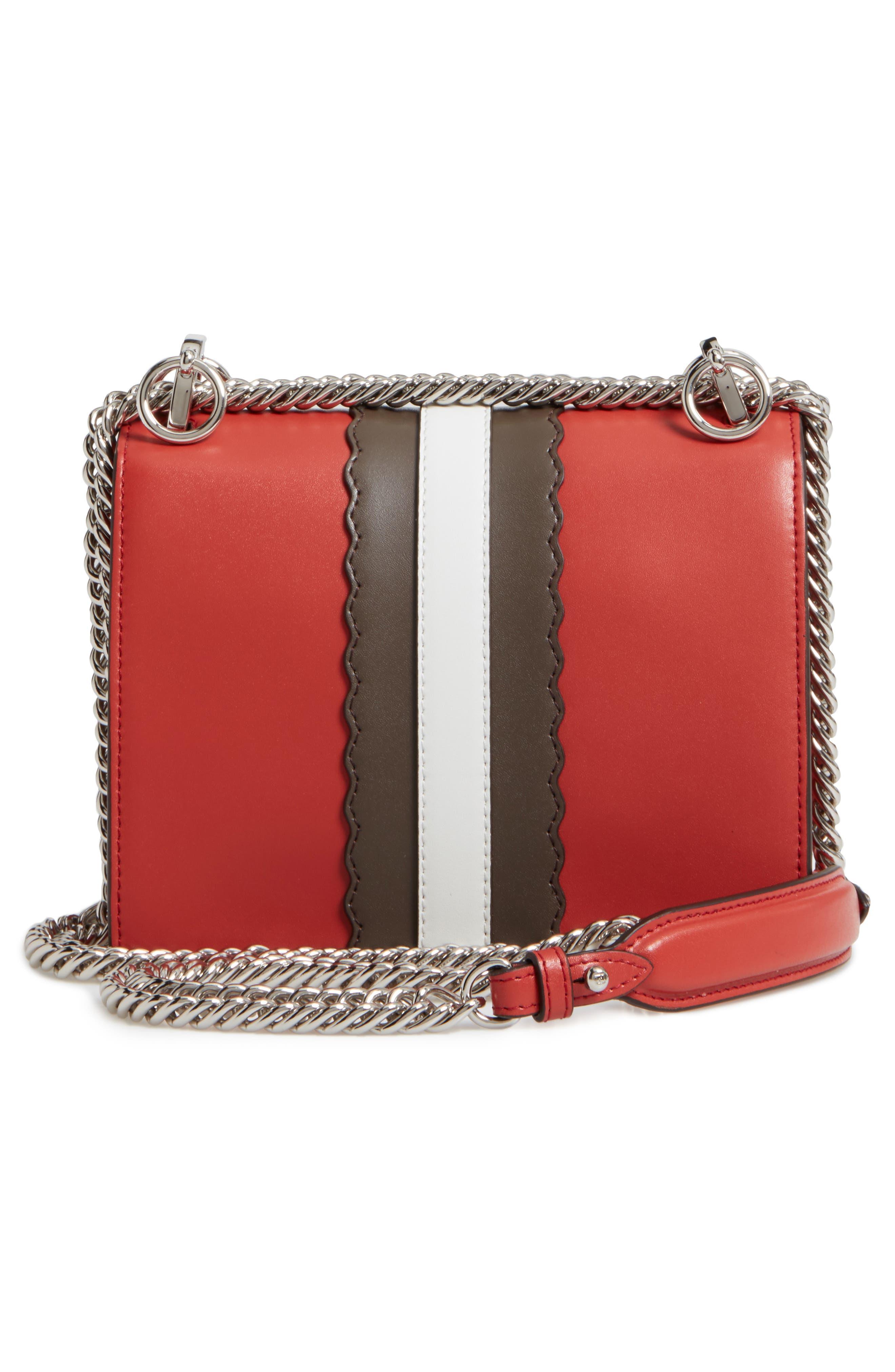 Mini Kan I Faces Leather Shoulder Bag,                             Alternate thumbnail 3, color,                             644