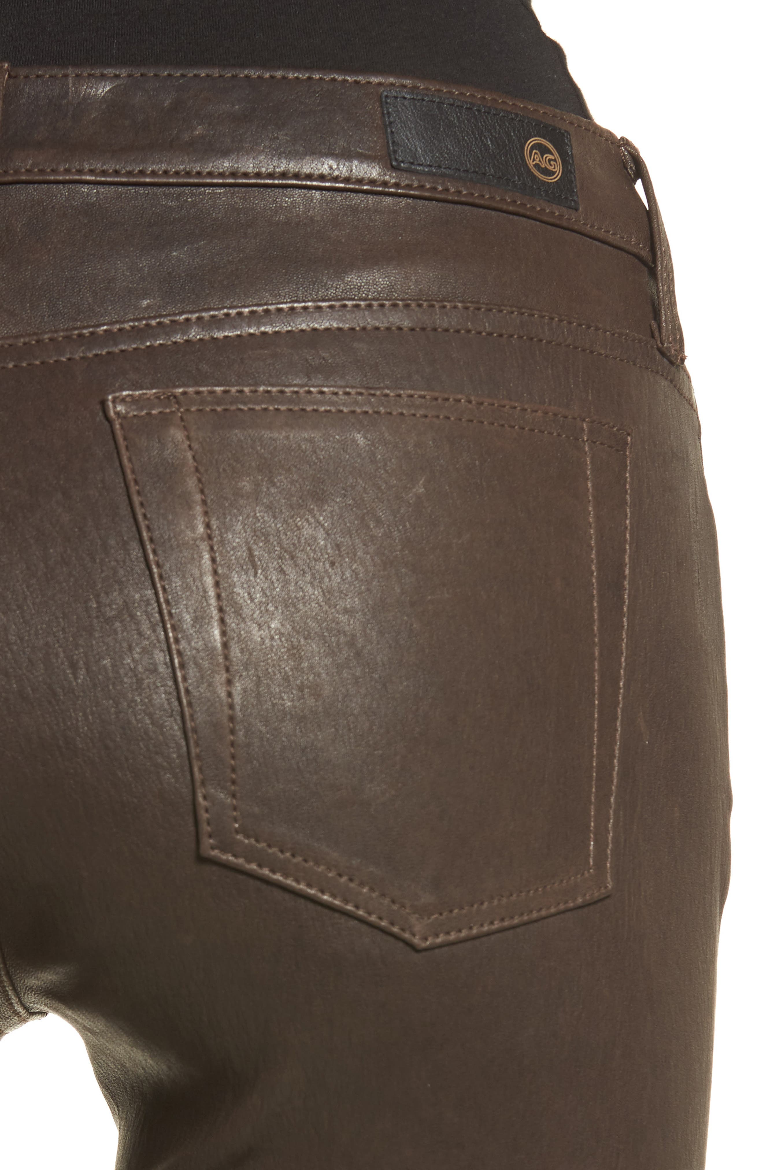 AG,                             The Legging Super Skinny Leather Pants,                             Alternate thumbnail 4, color,                             248