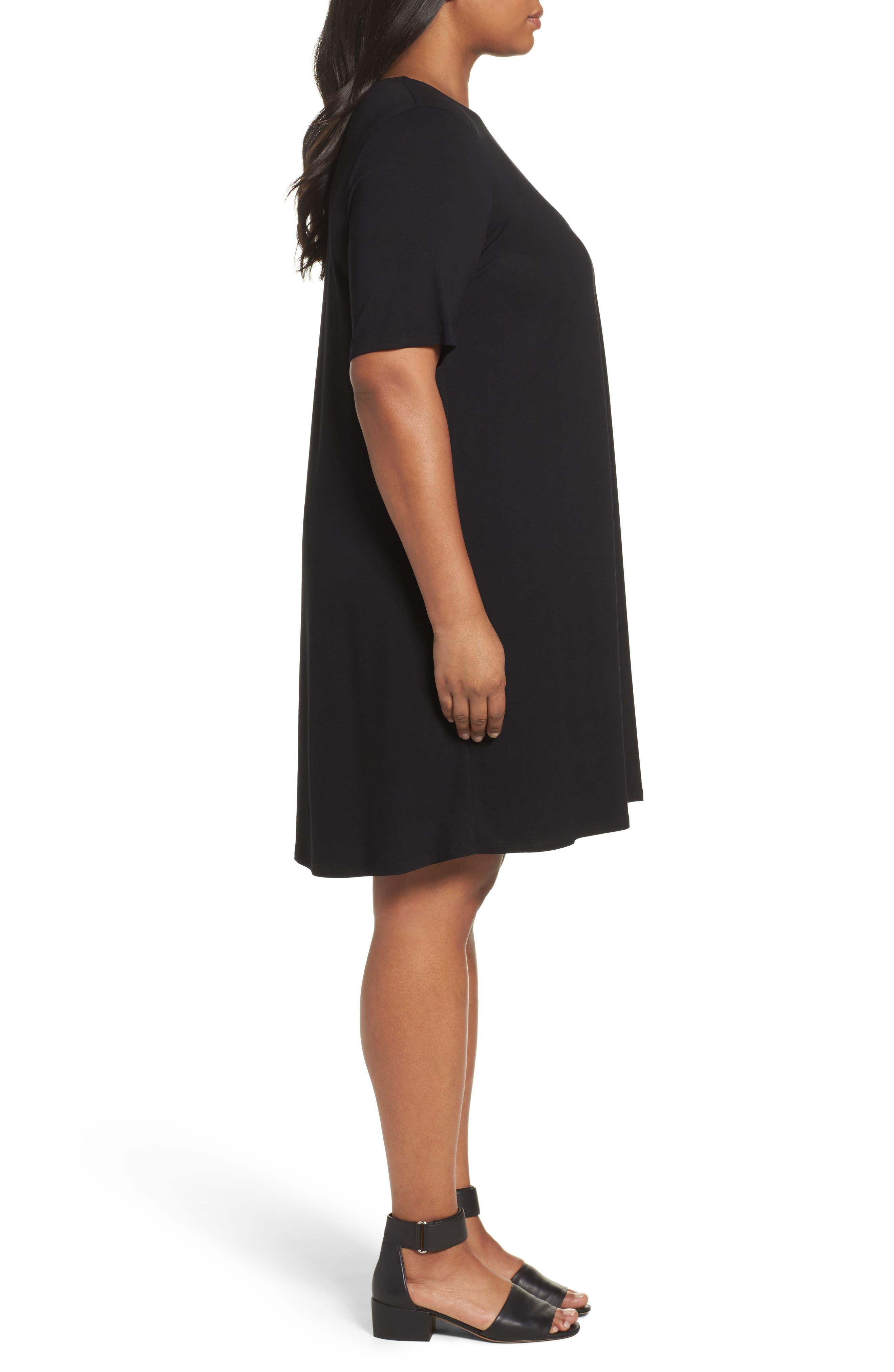 Stretch Jersey Shift Dress,                             Alternate thumbnail 8, color,