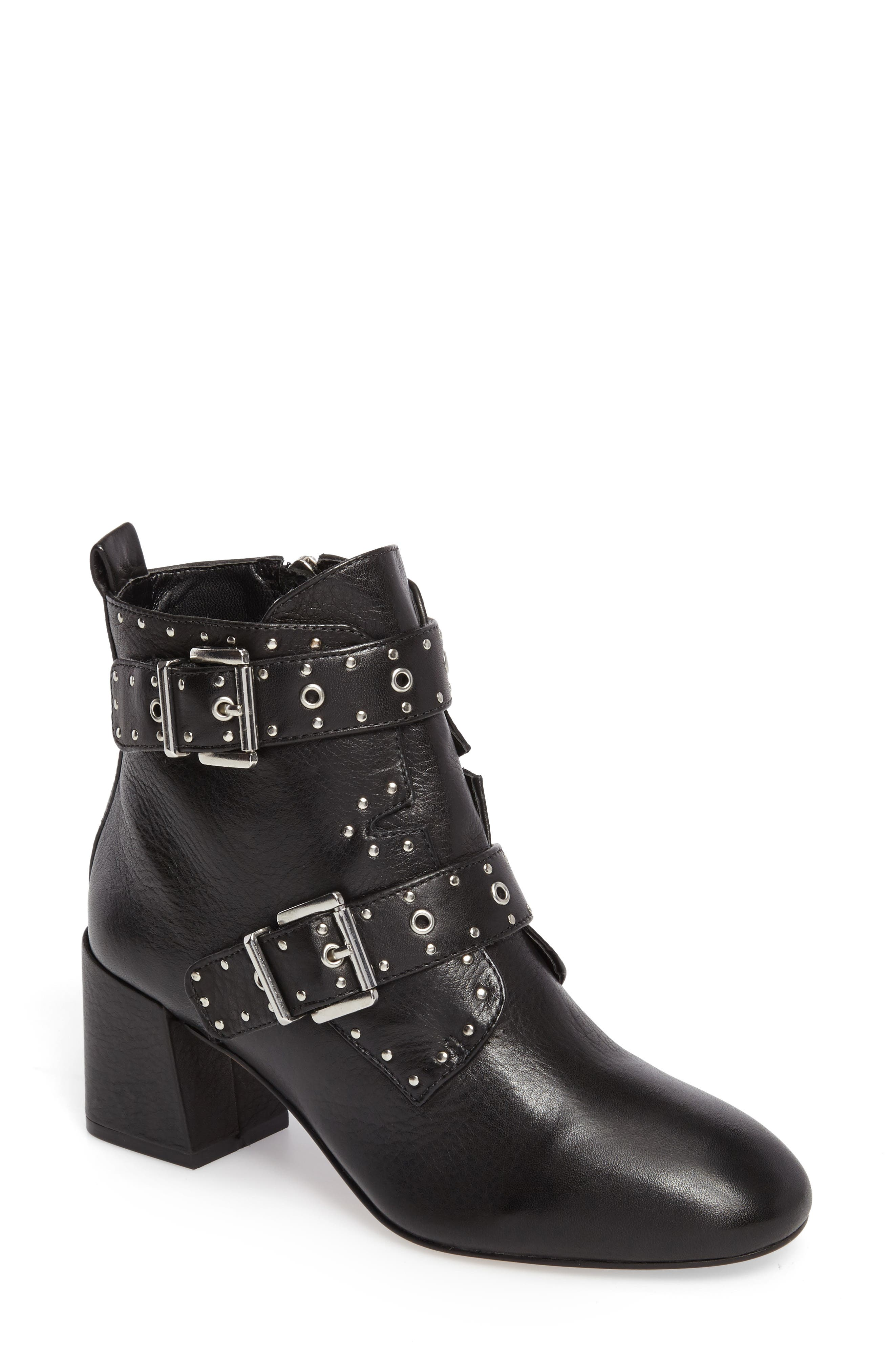 Logan Studded Bootie,                             Main thumbnail 1, color,                             001