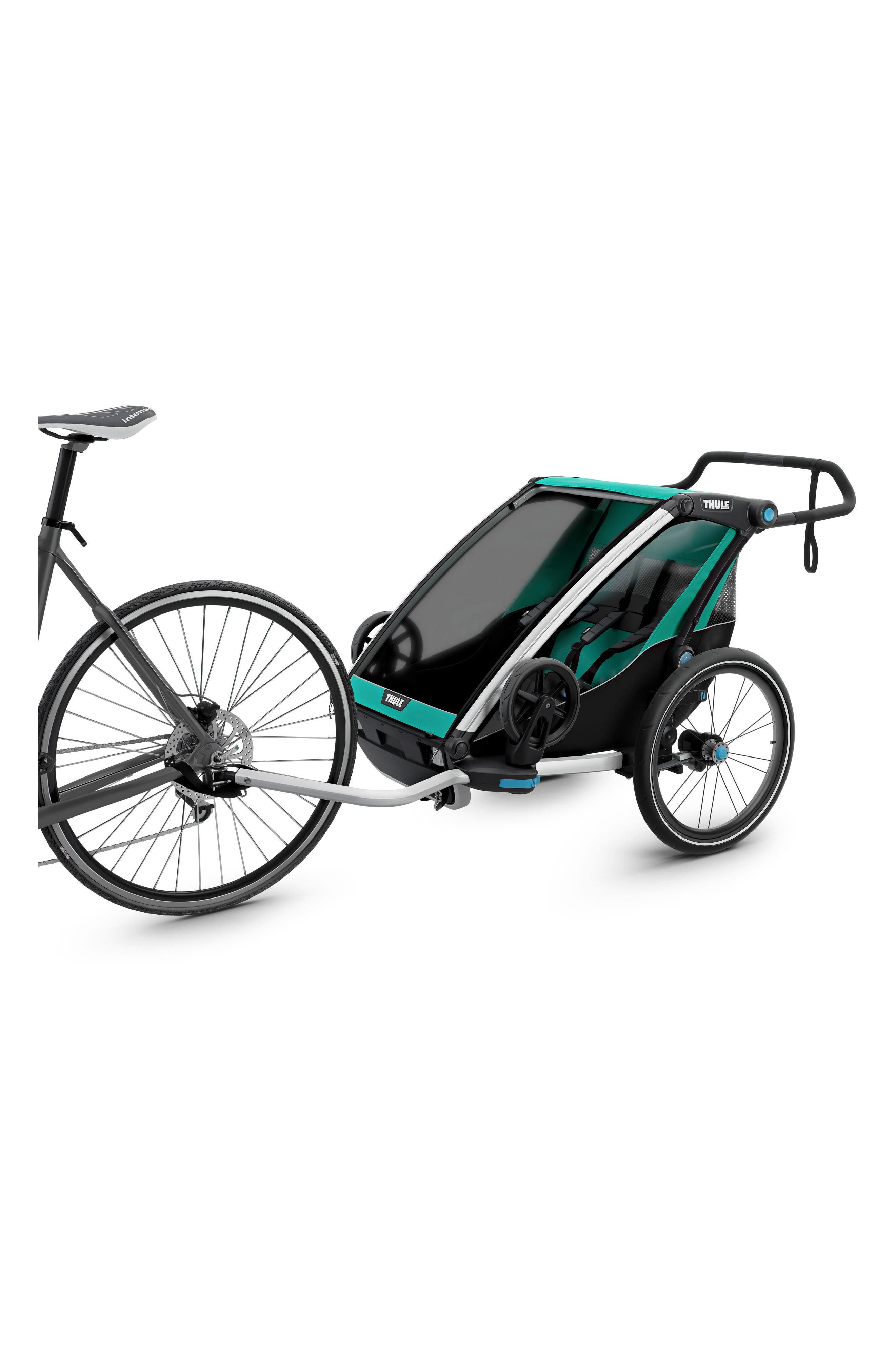 Chariot Lite 2 Multisport Double Cycle Trailer/Stroller,                             Alternate thumbnail 3, color,                             BLUEGRASS