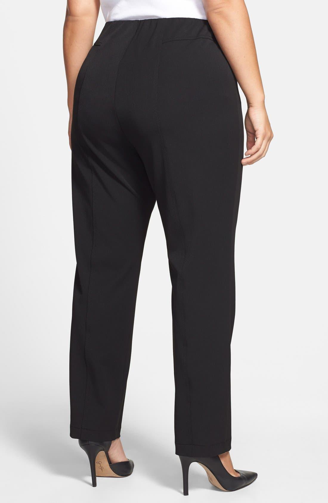 Seam Detail Pants,                             Alternate thumbnail 3, color,                             RICH BLACK
