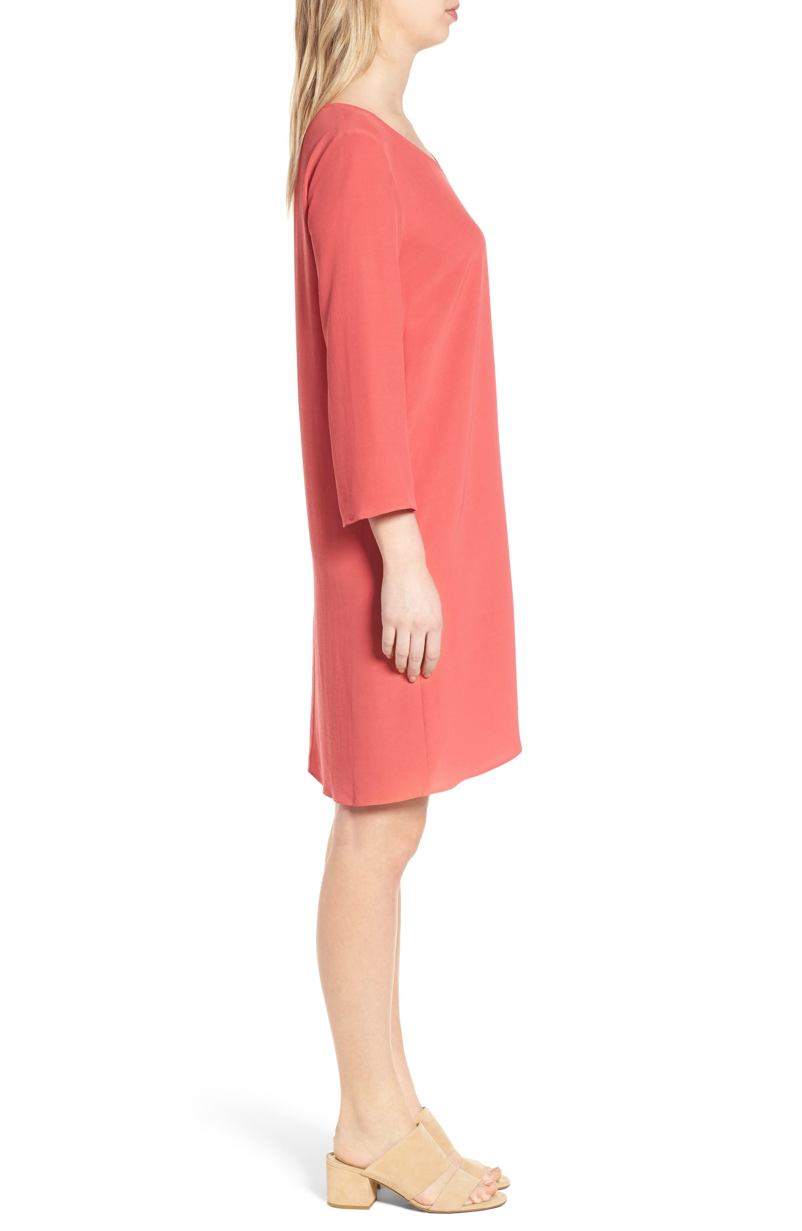 V-Neck Shift Dress,                             Alternate thumbnail 6, color,