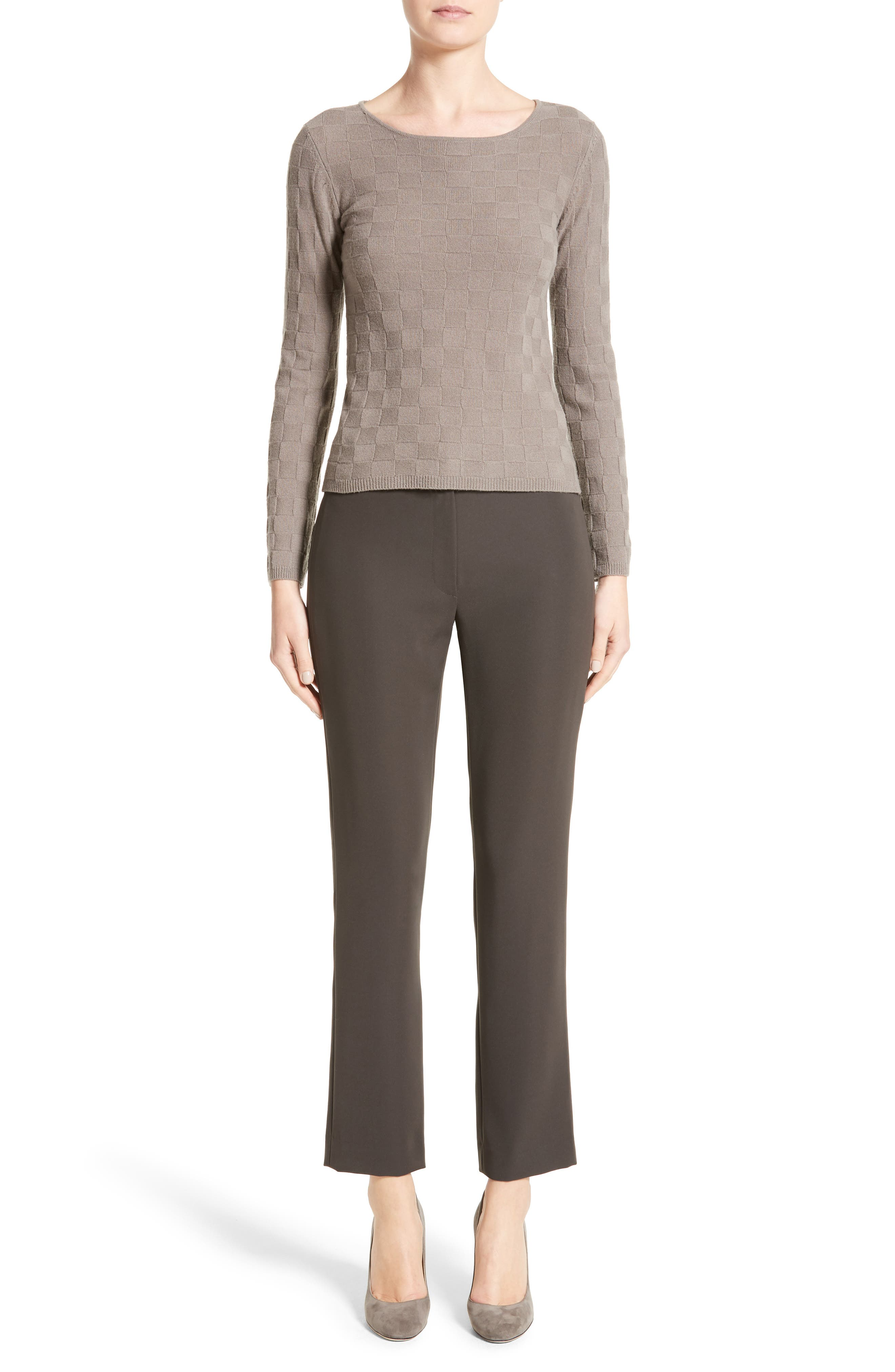 Checkerboard Cashmere Sweater,                             Alternate thumbnail 6, color,                             250