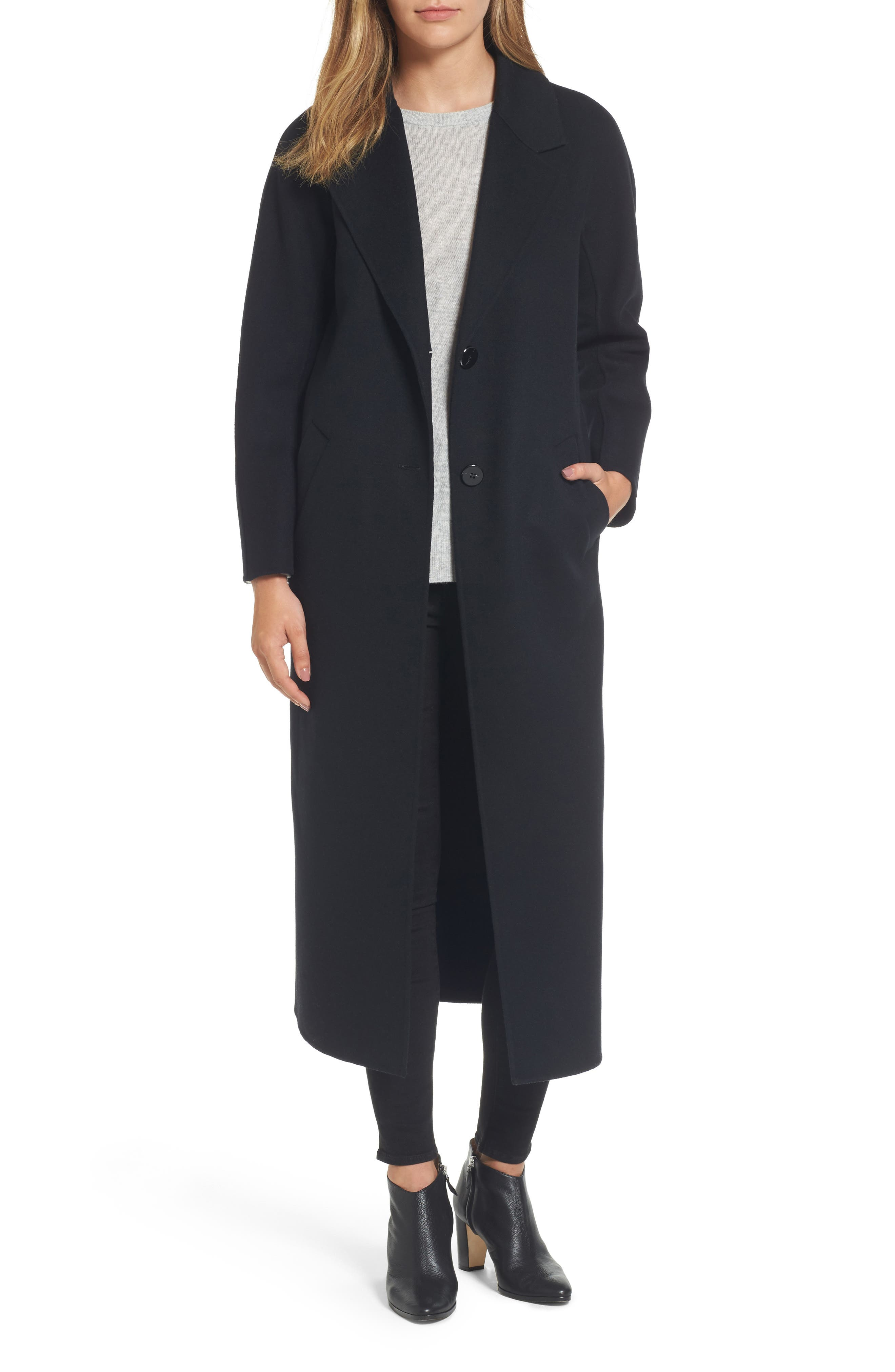 Adriana Wool Reefer Coat,                             Main thumbnail 1, color,                             001
