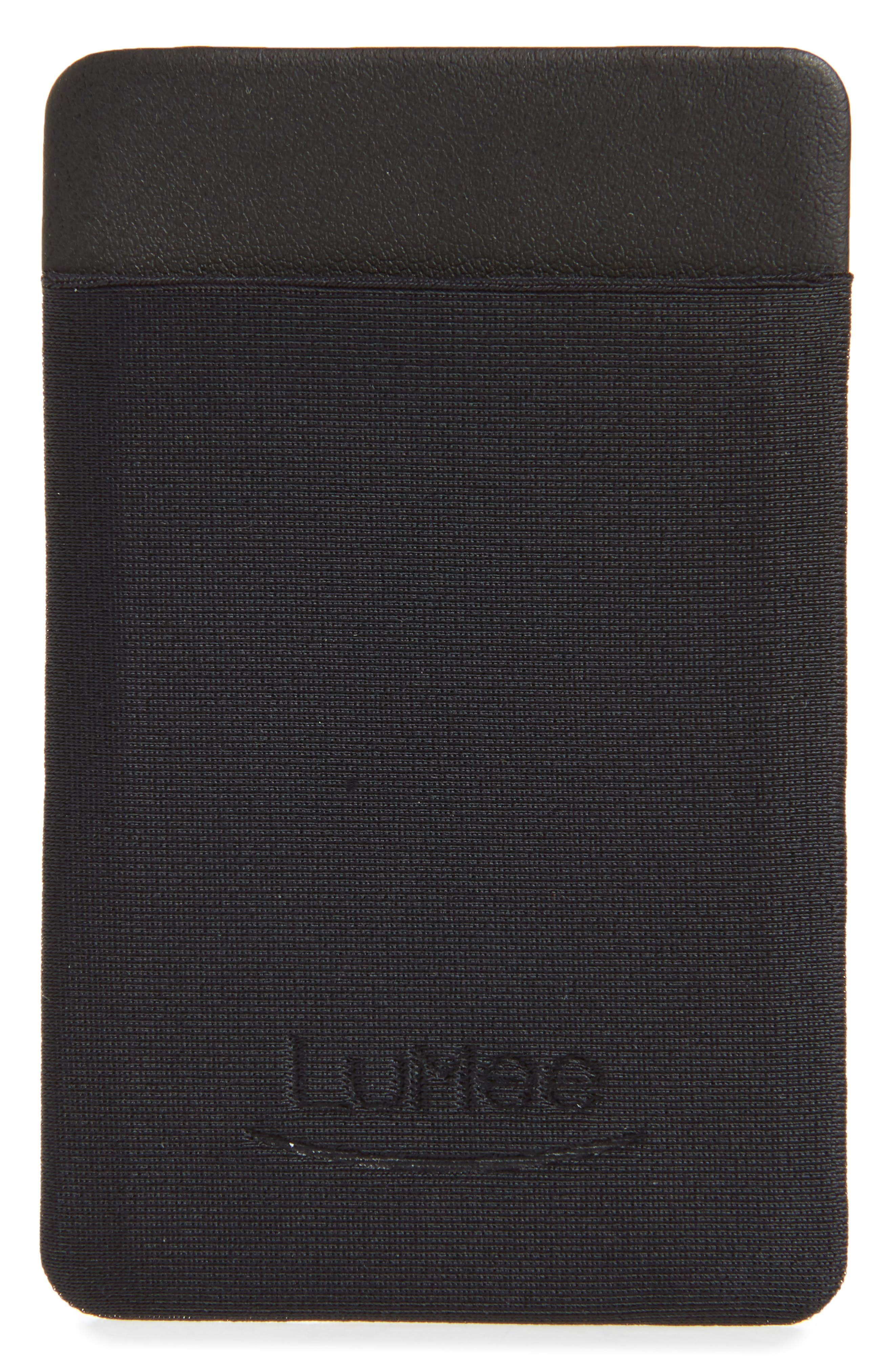 Card Phone Pocket,                             Alternate thumbnail 2, color,                             BLACK