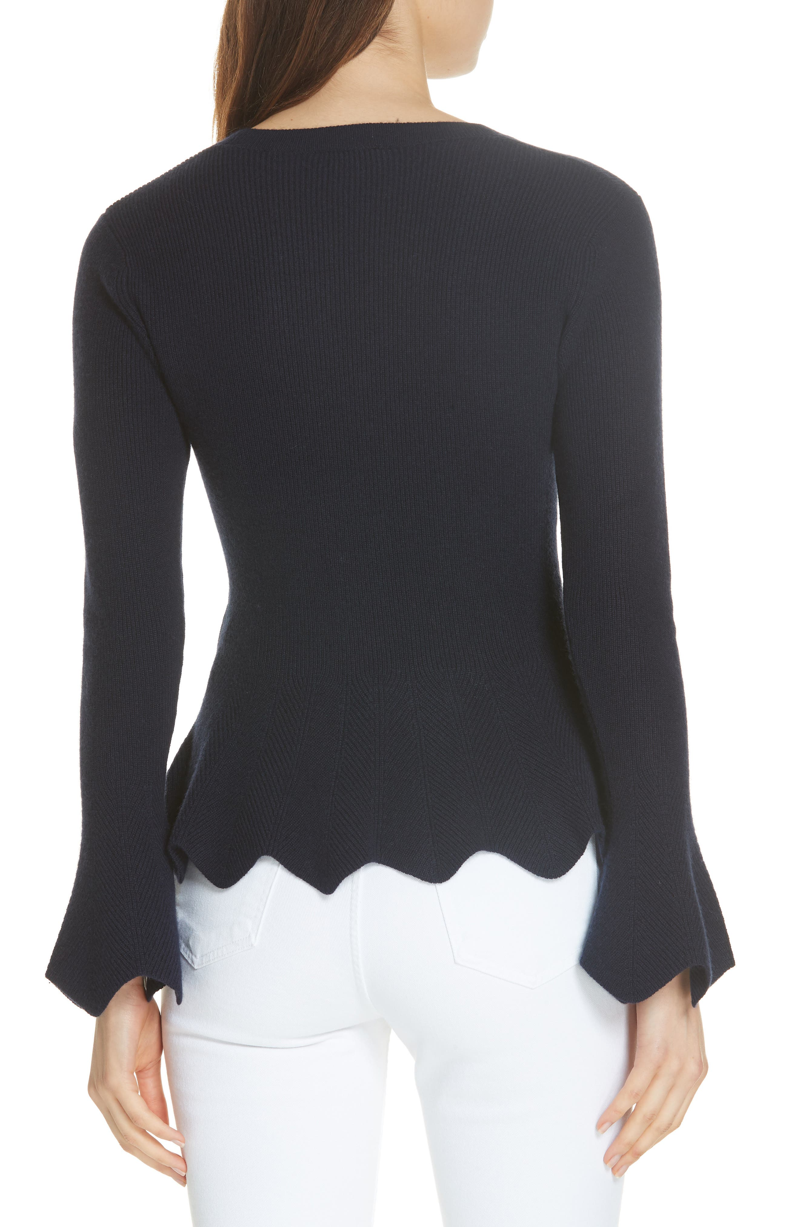 Bobbe Wool Blend Peplum Sweater,                             Alternate thumbnail 2, color,                             410