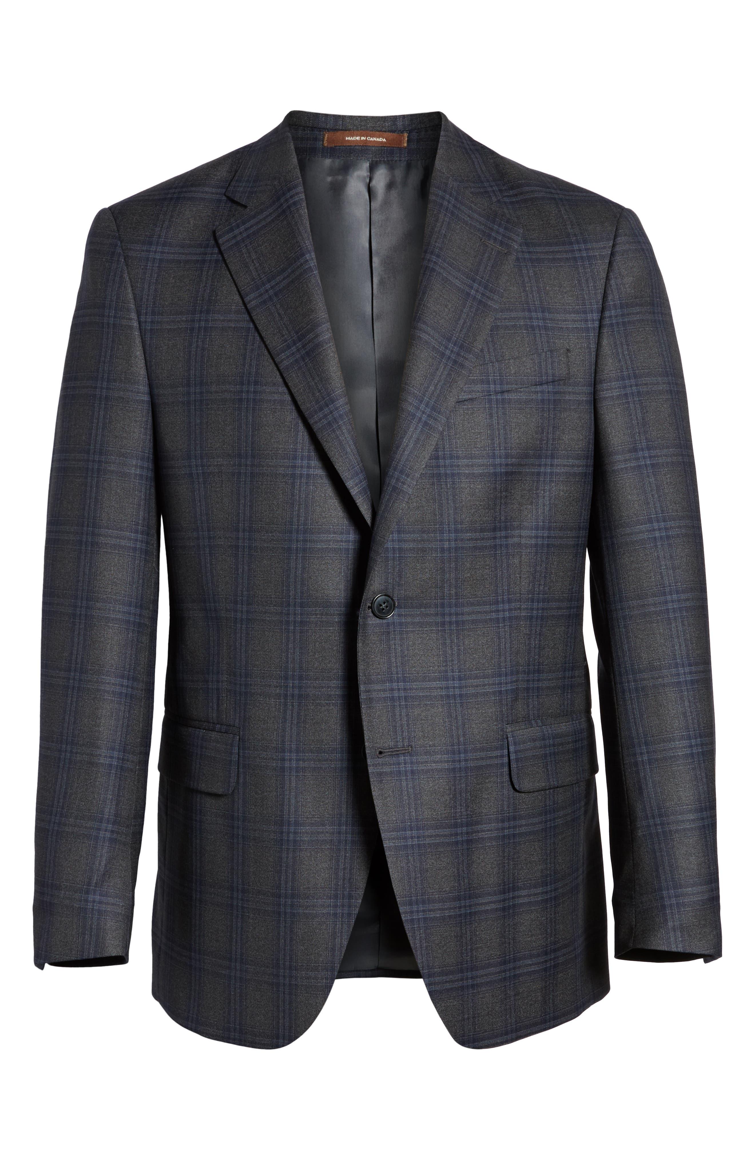 PETER MILLAR,                             Classic Fit Plaid Wool Sport Coat,                             Alternate thumbnail 5, color,                             020